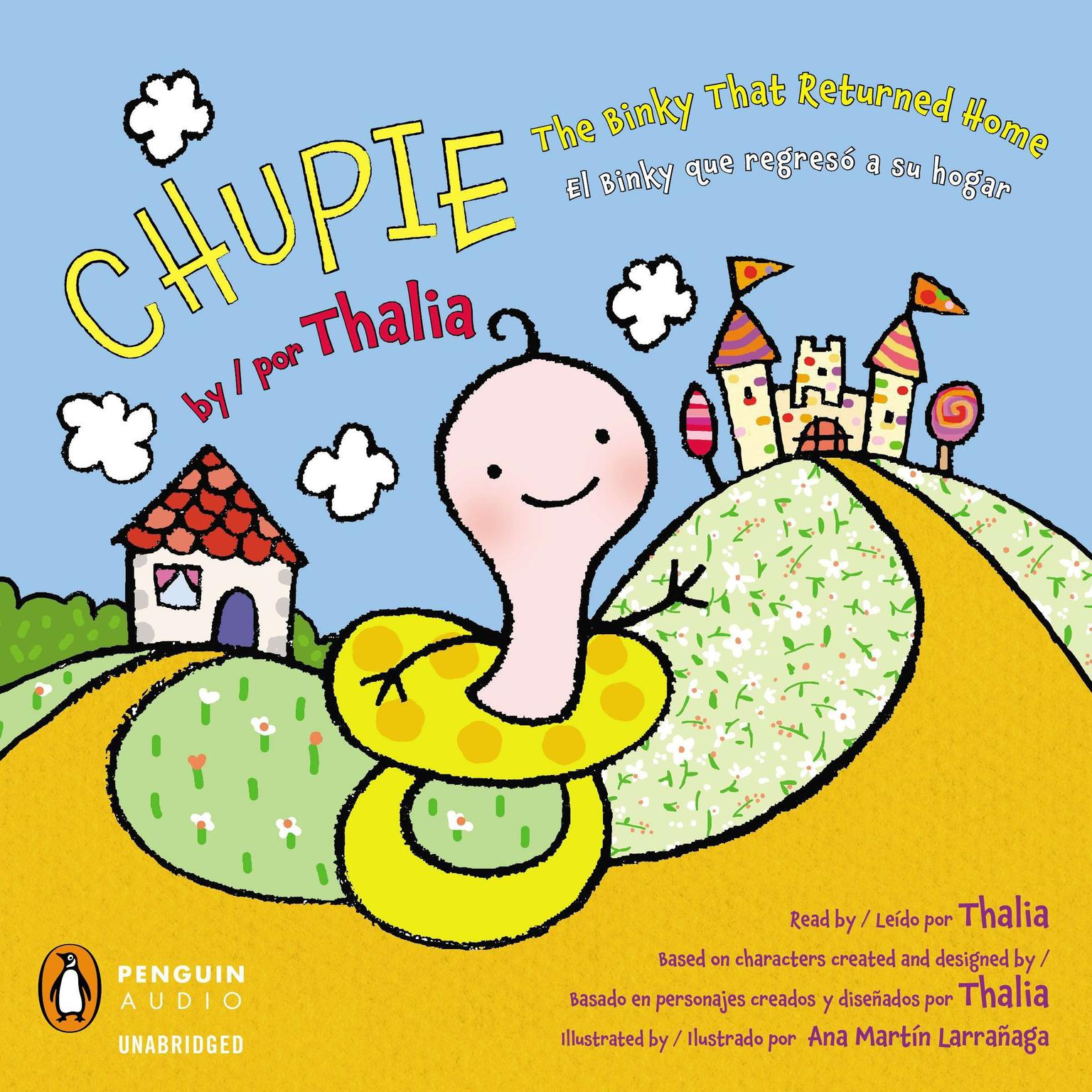 Printable Chupie: The Binky That Returned Home / El Binky que regreso a su hogar Audiobook Cover Art