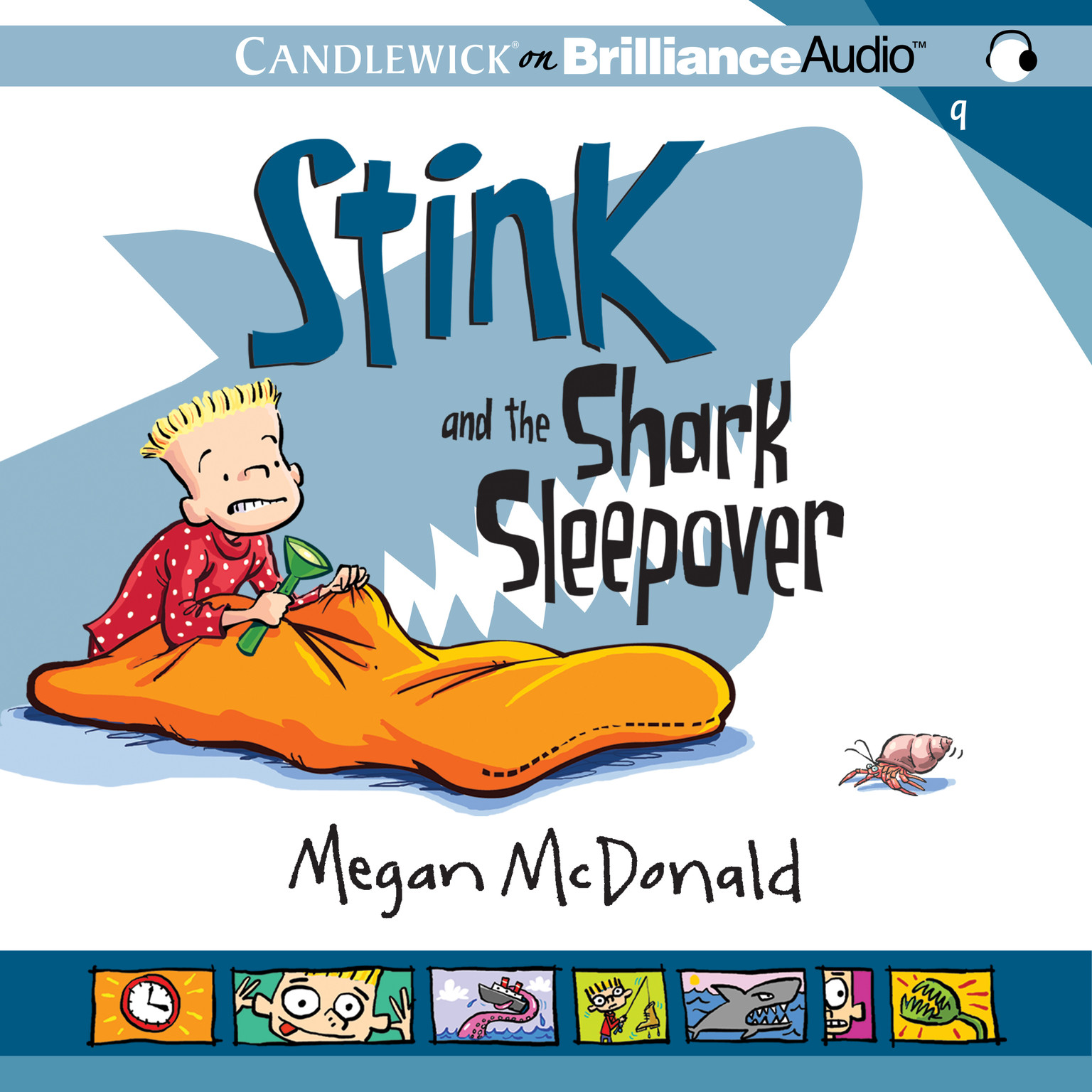 Printable Stink and the Shark Sleepover Audiobook Cover Art
