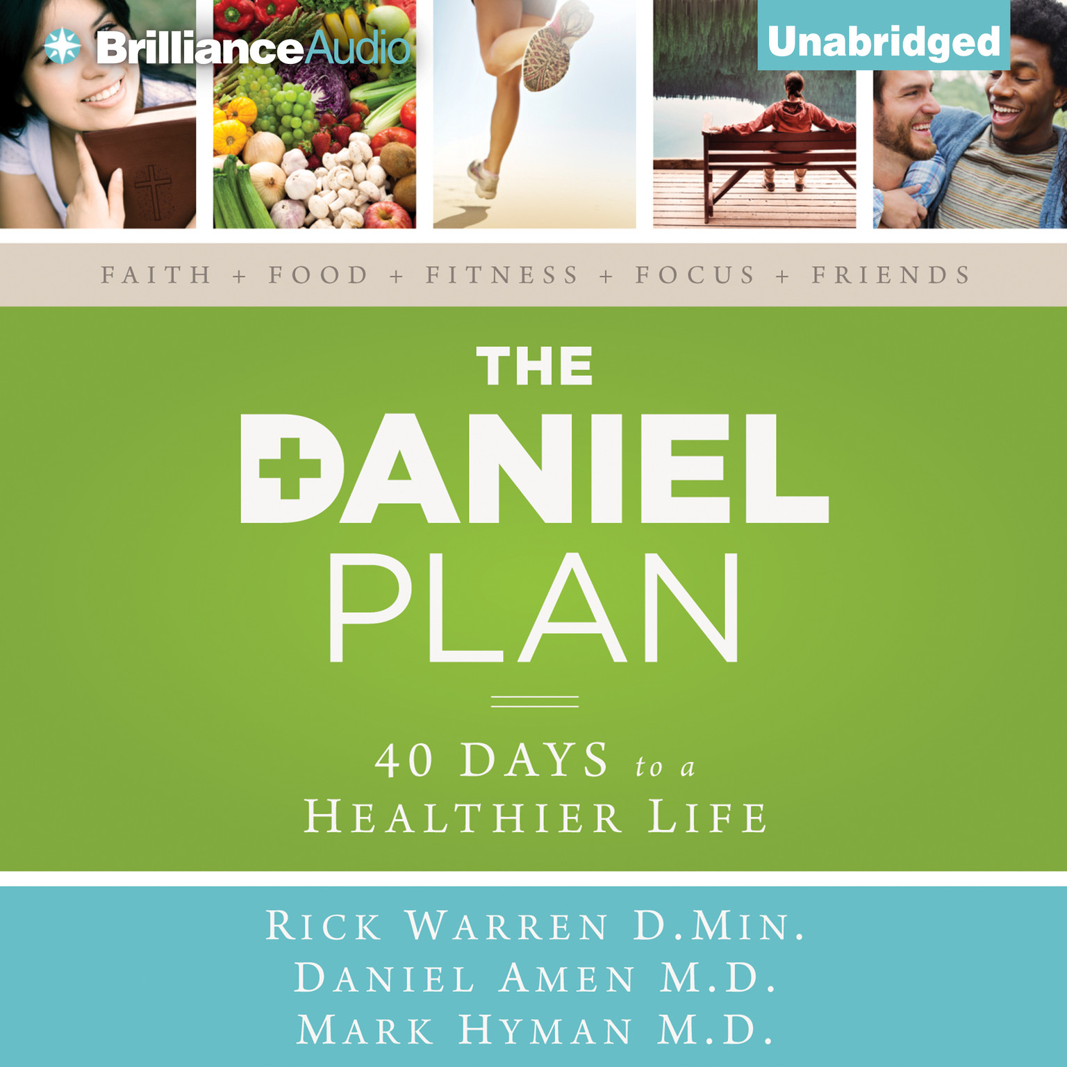 Printable The Daniel Plan: 40 Days to a Healthier Life Audiobook Cover Art