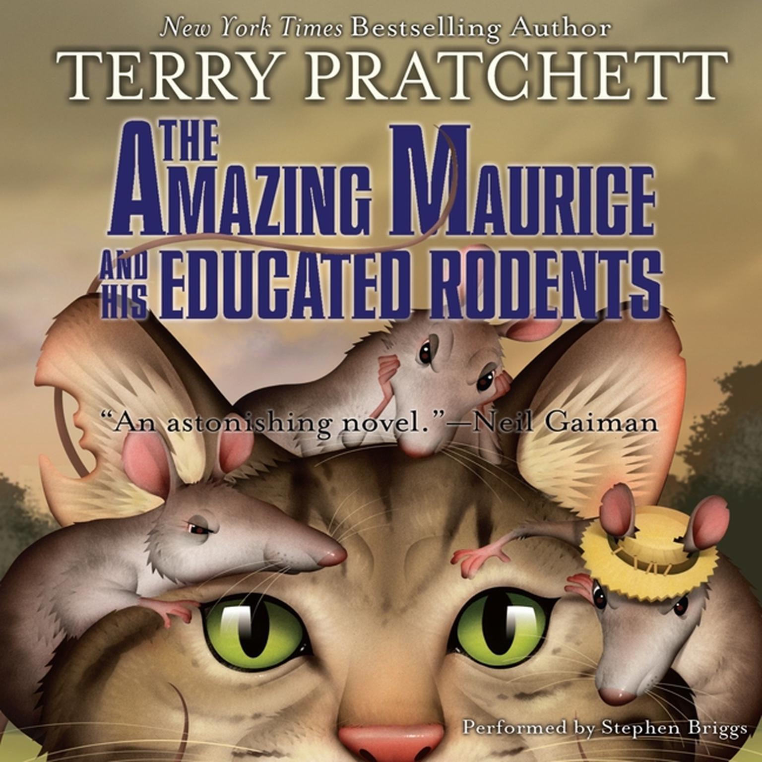 Printable The Amazing Maurice and His Educated Rodents Audiobook Cover Art