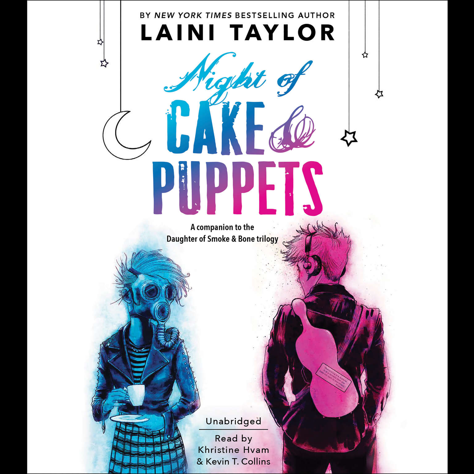 Printable Night of Cake and Puppets Audiobook Cover Art