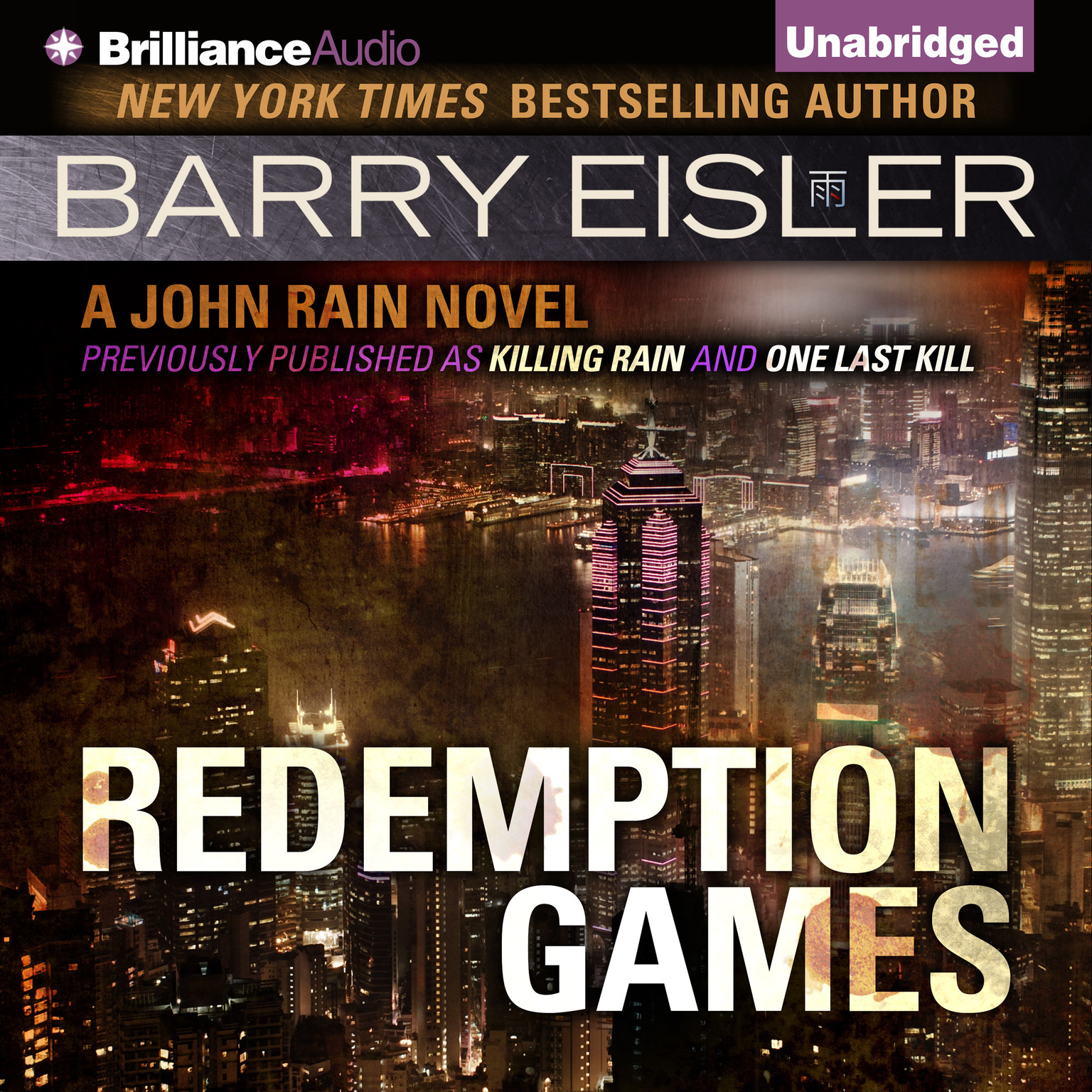 Printable Redemption Games Audiobook Cover Art
