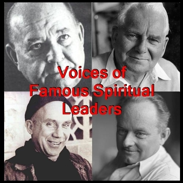 Printable Voices of Famous Spiritual Leaders Audiobook Cover Art