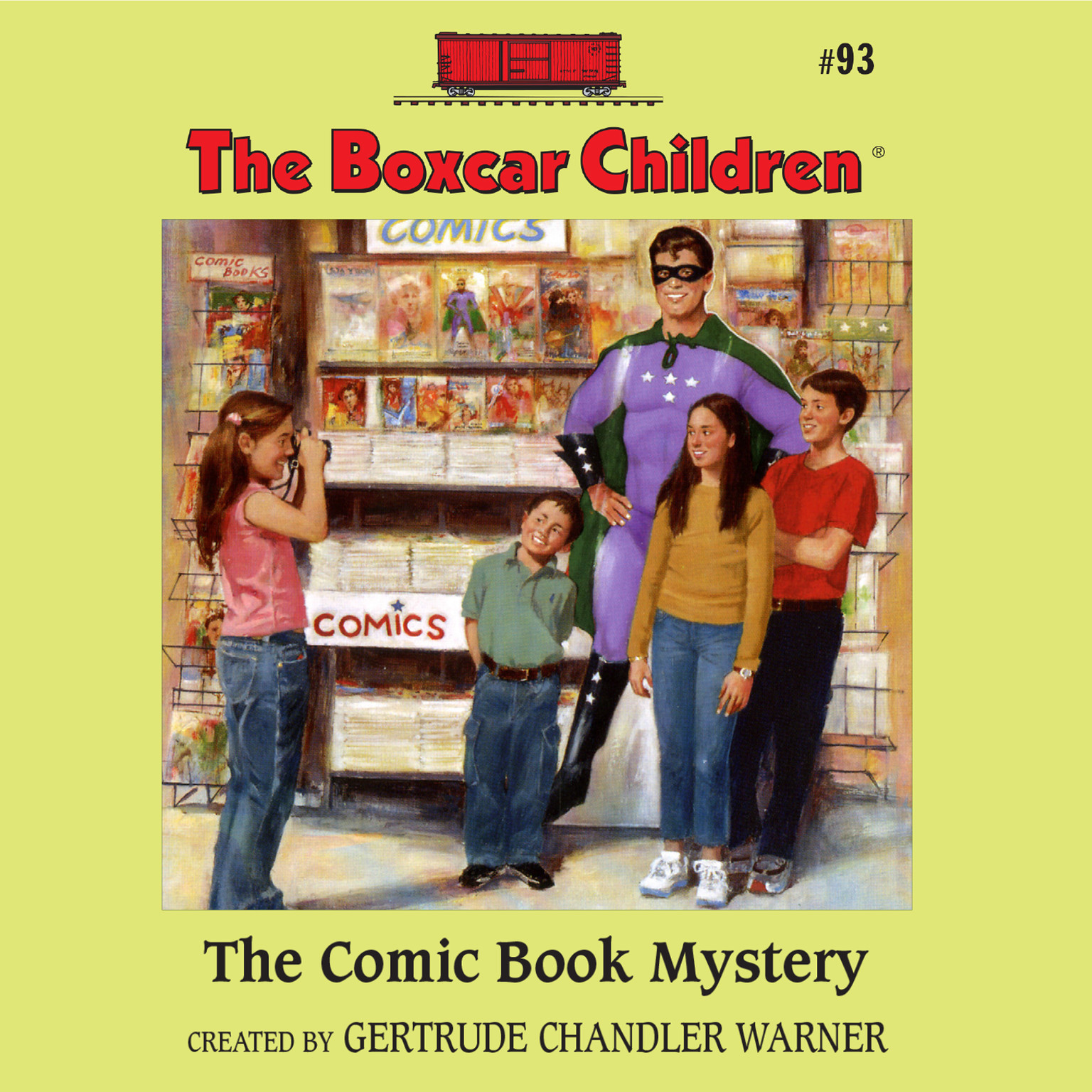 Printable The Comic Book Mystery Audiobook Cover Art