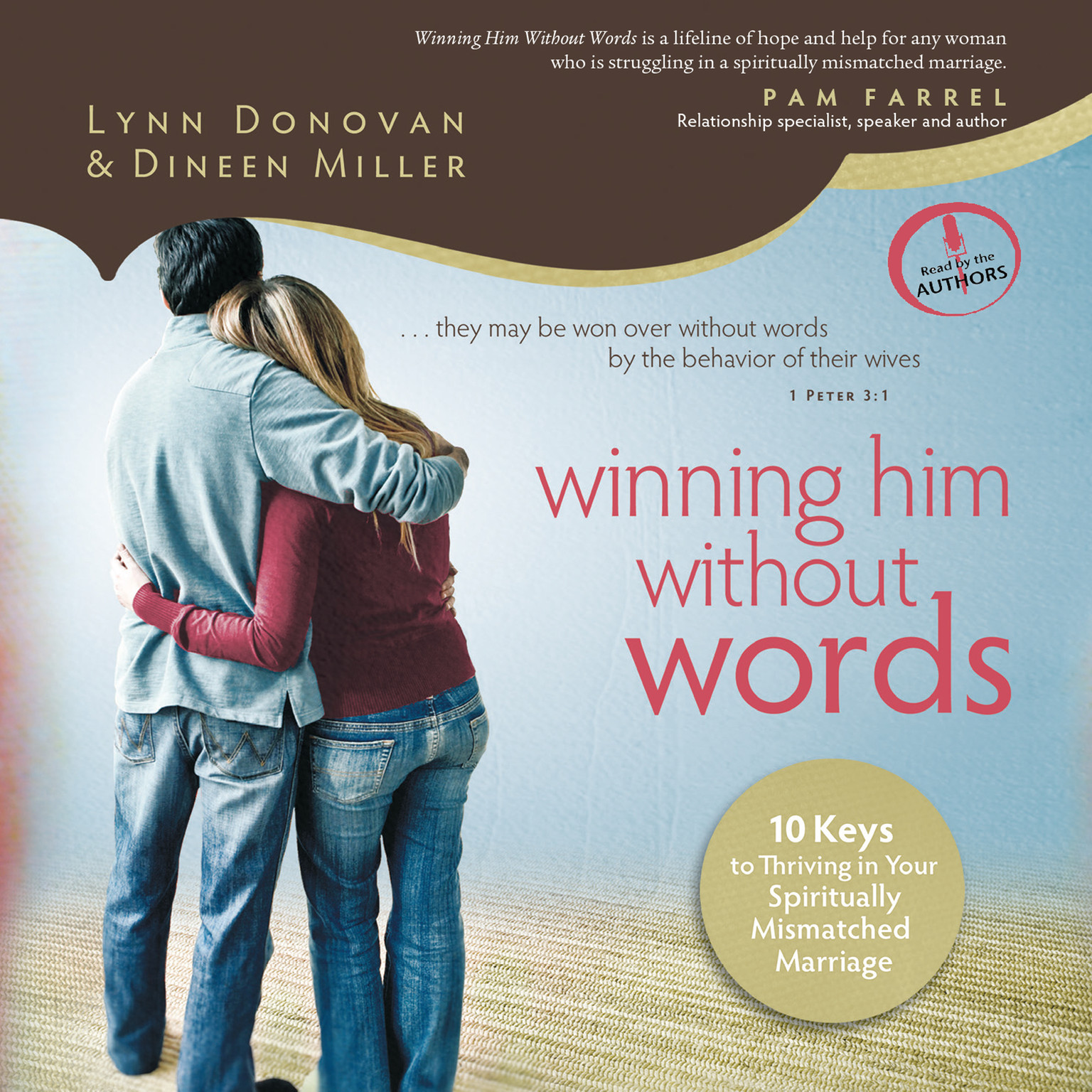Printable Winning Him without Words: 10 Keys to Thriving in Your Spiritually Mismatched Marriage Audiobook Cover Art