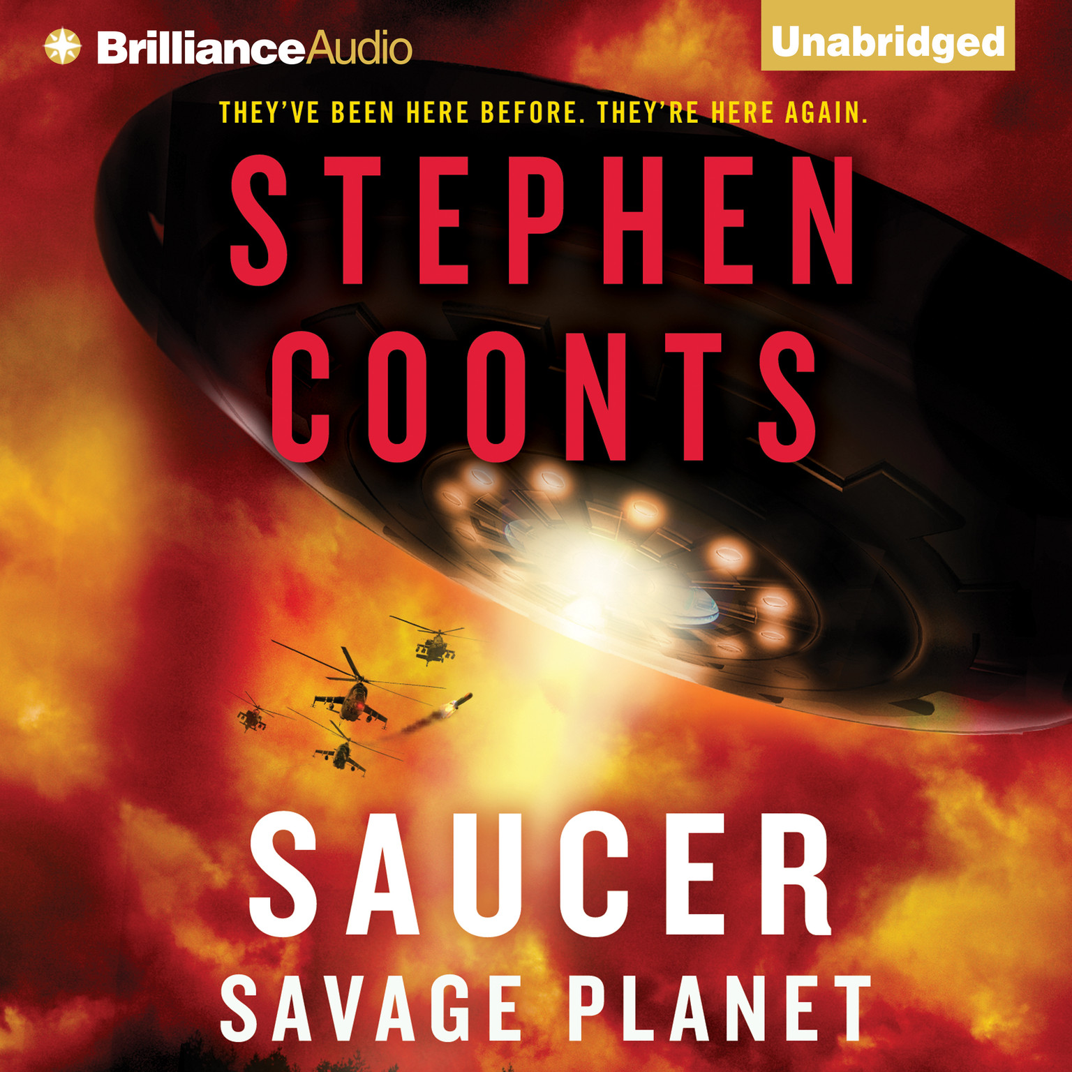 Printable Saucer: Savage Planet Audiobook Cover Art