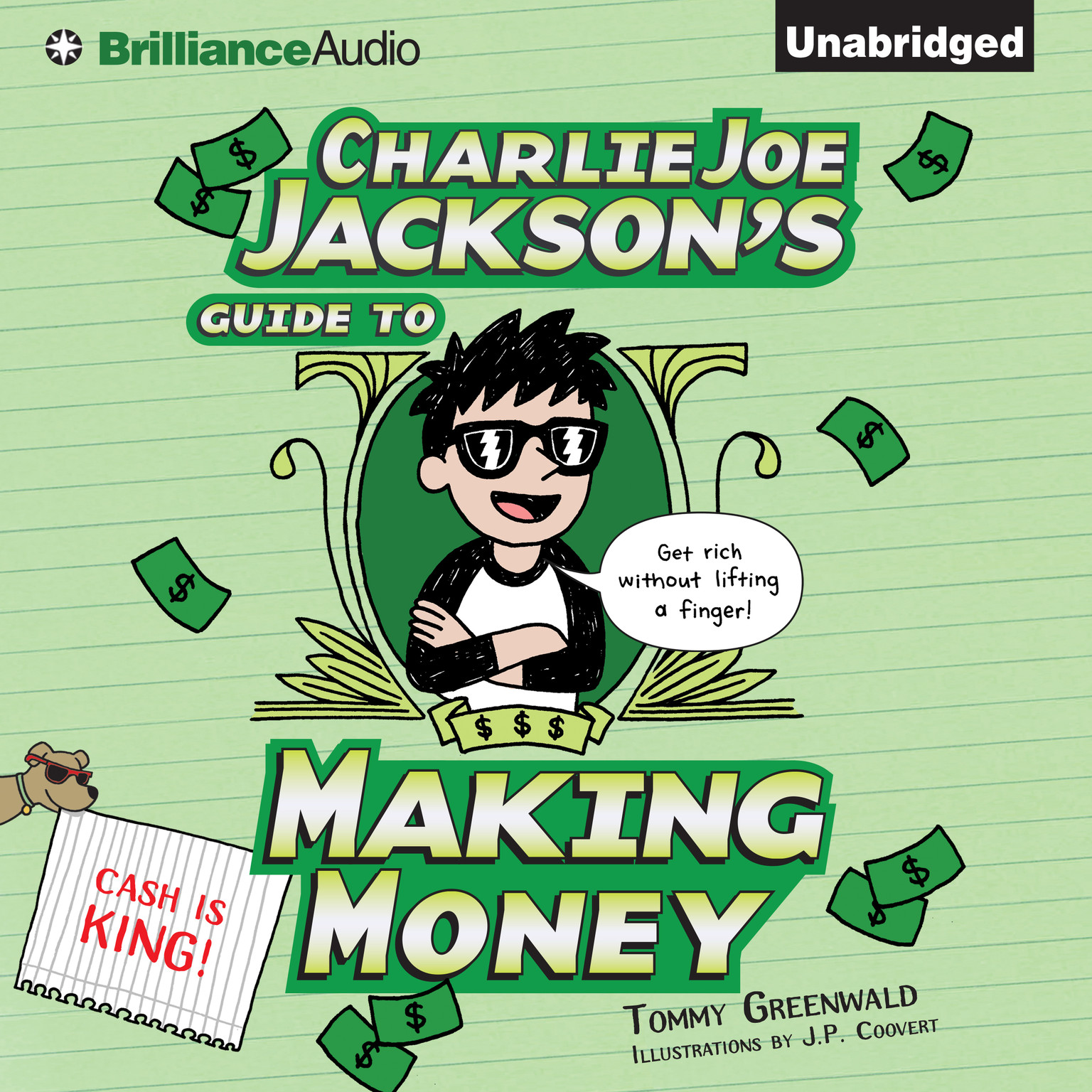 Printable Charlie Joe Jackson's Guide to Making Money Audiobook Cover Art