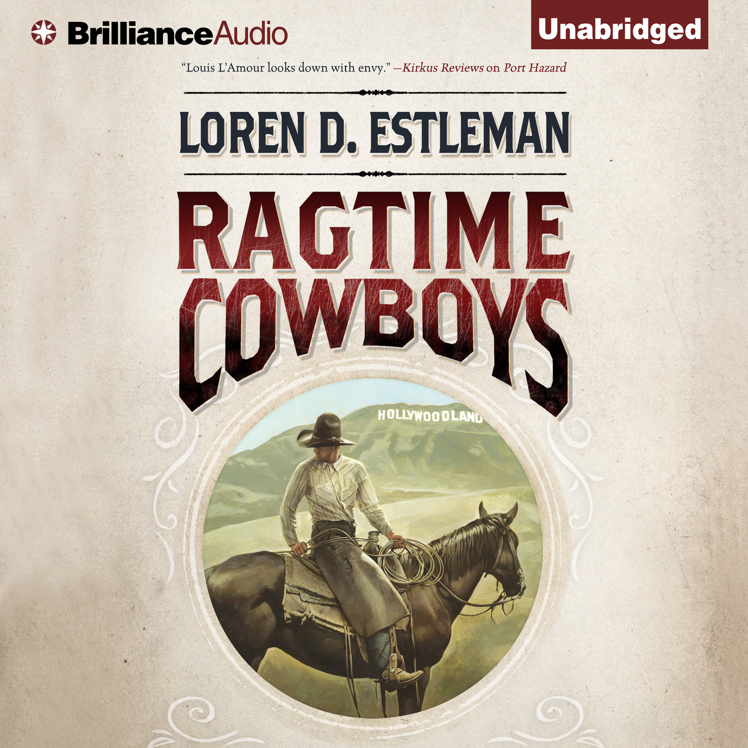 Printable Ragtime Cowboys Audiobook Cover Art