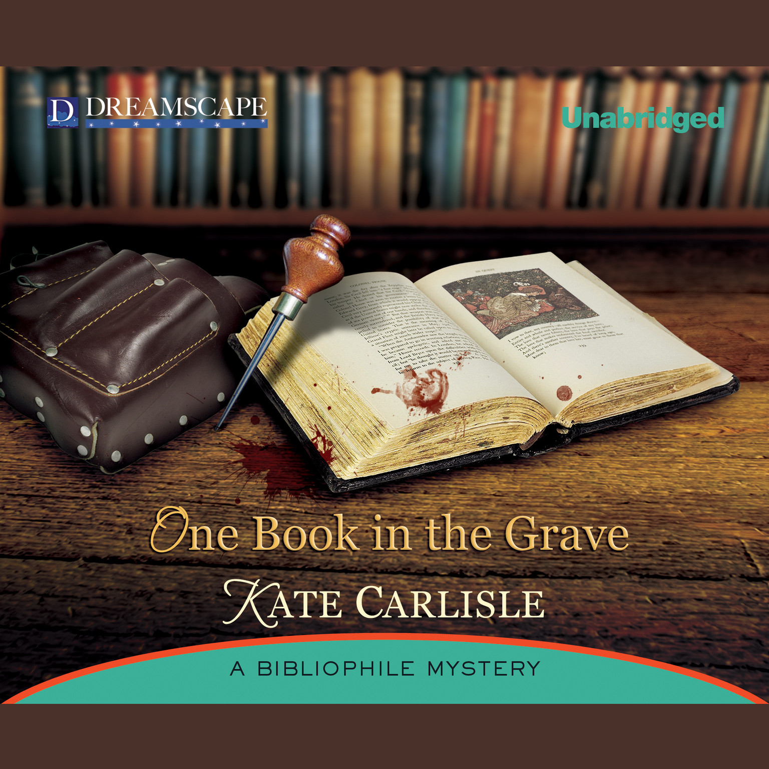 Printable One Book in the Grave: A Bibliophile Mystery Audiobook Cover Art