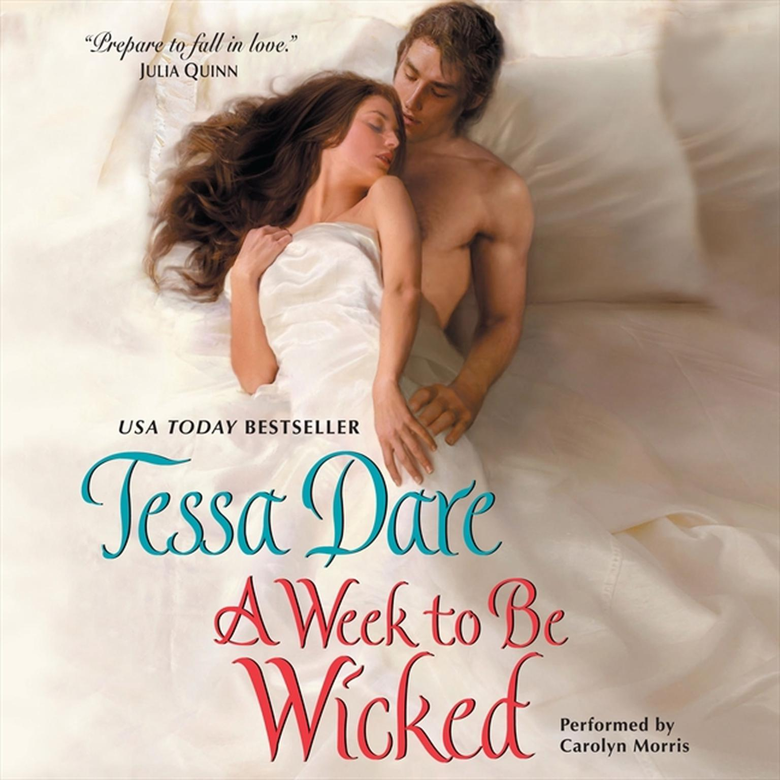 Printable A Week to Be Wicked Audiobook Cover Art