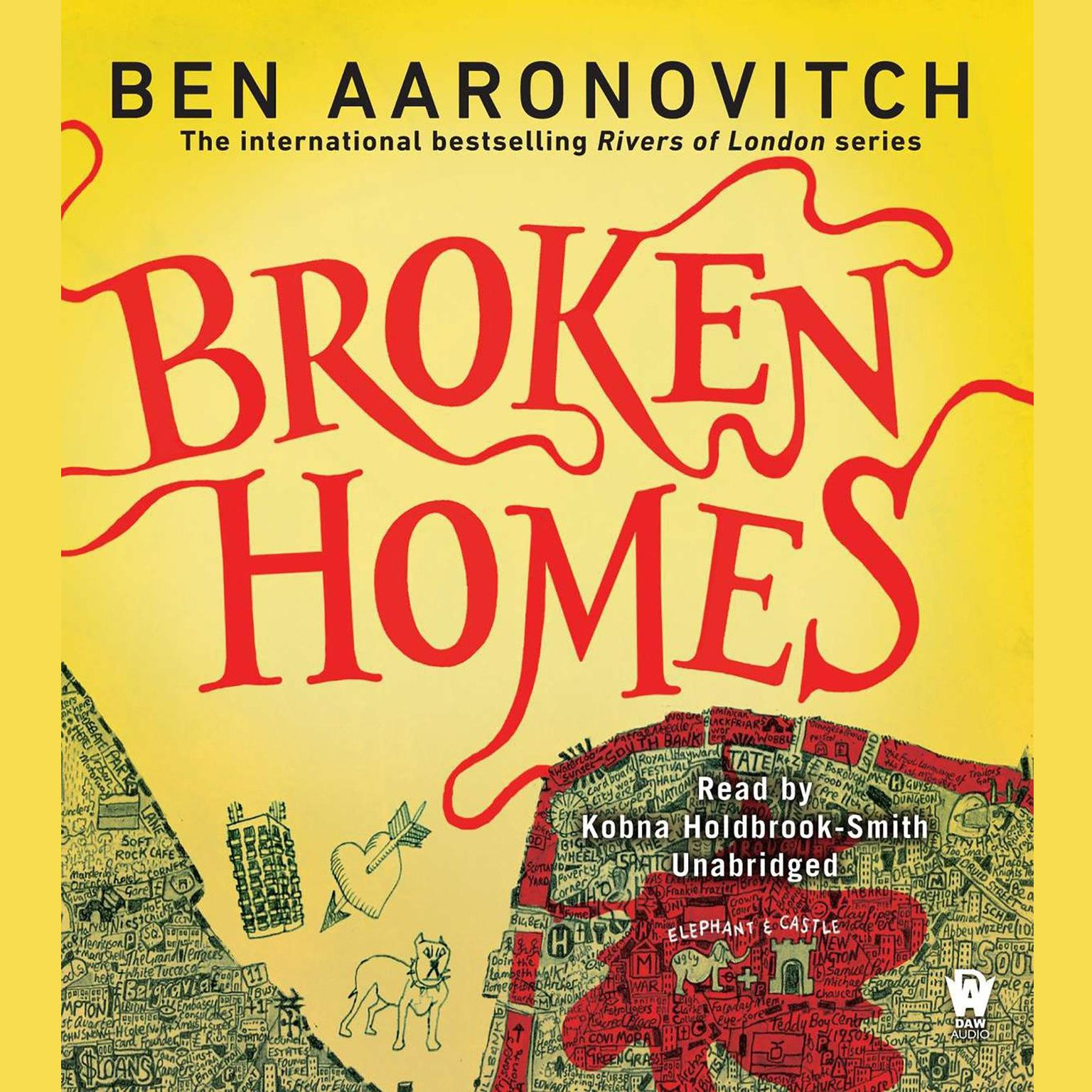 Printable Broken Homes: A Rivers of London Novel Audiobook Cover Art