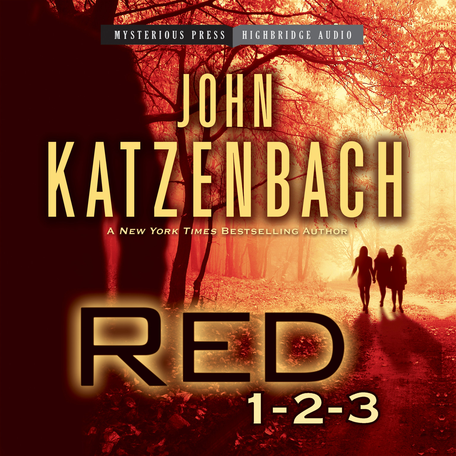 Printable Red 1-2-3 Audiobook Cover Art
