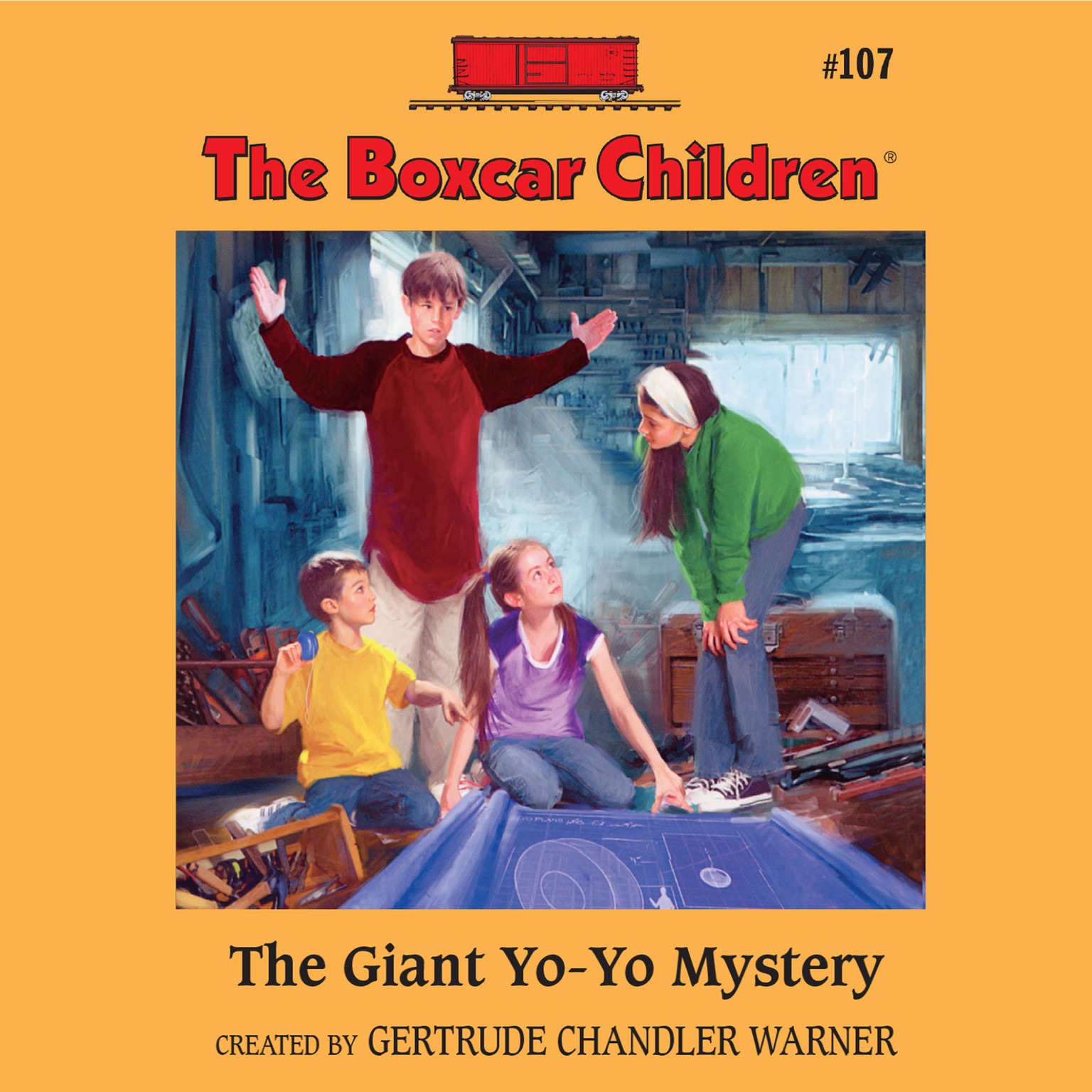 Printable The Giant Yo-Yo Mystery Audiobook Cover Art
