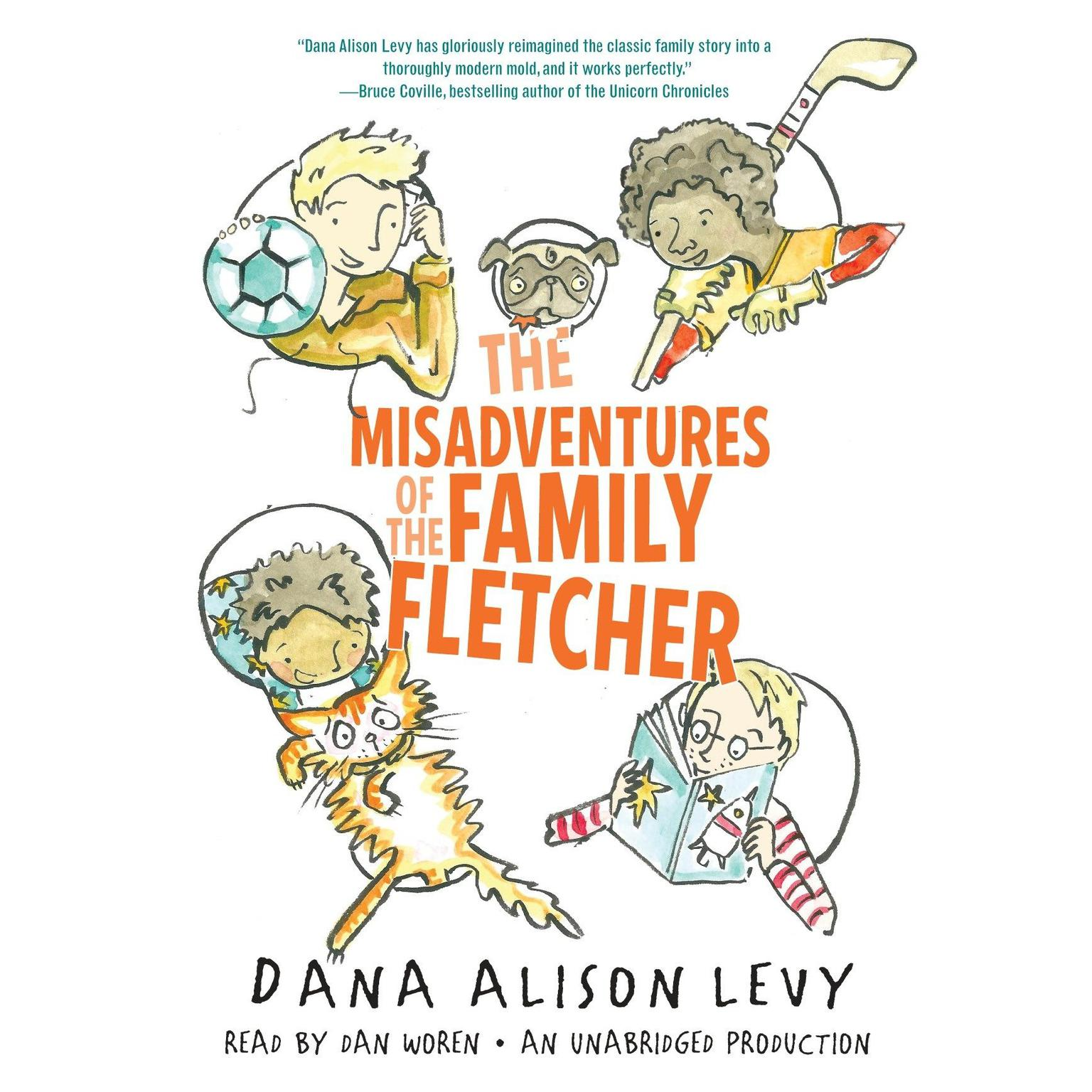 Printable The Misadventures of the Family Fletcher Audiobook Cover Art