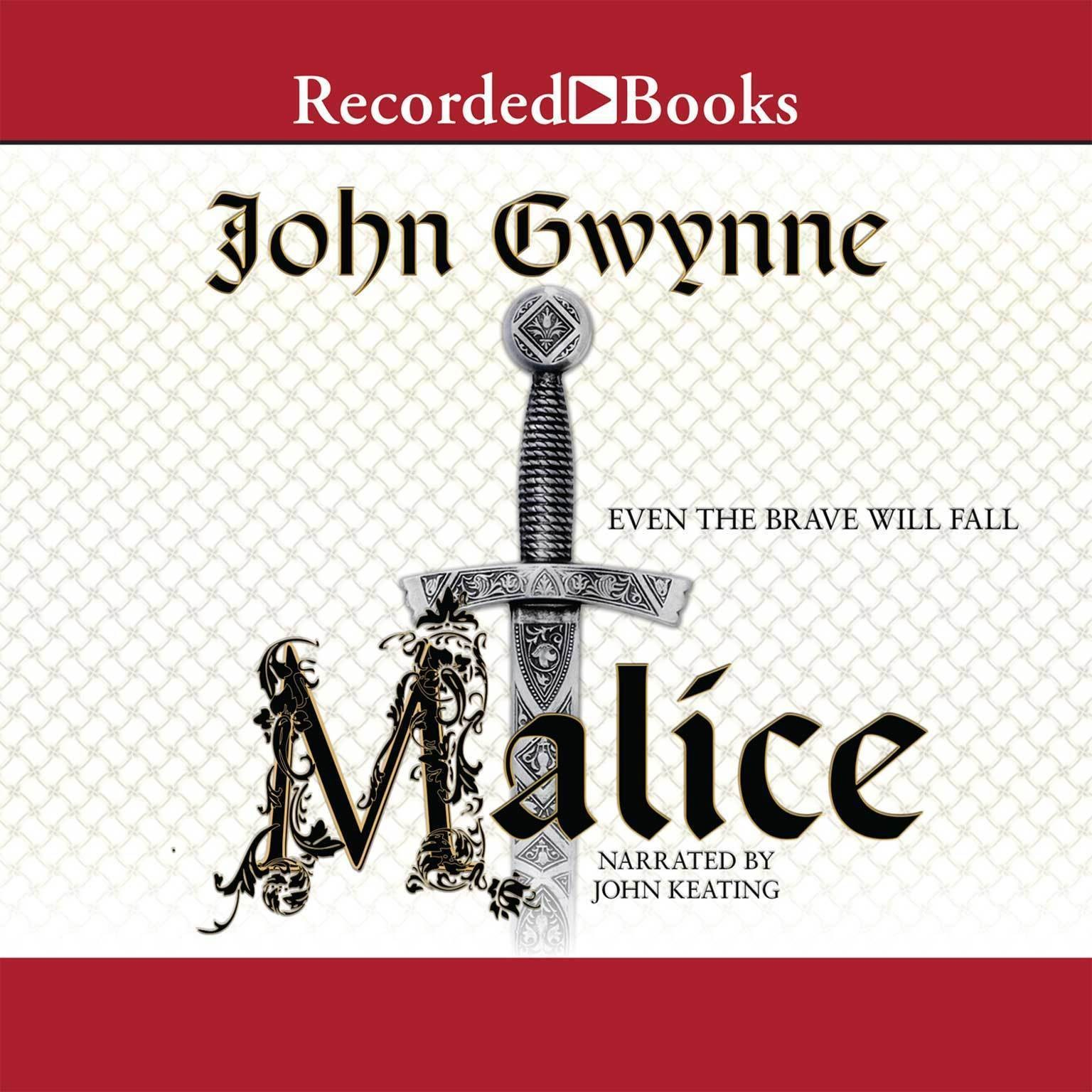 Printable Malice Audiobook Cover Art