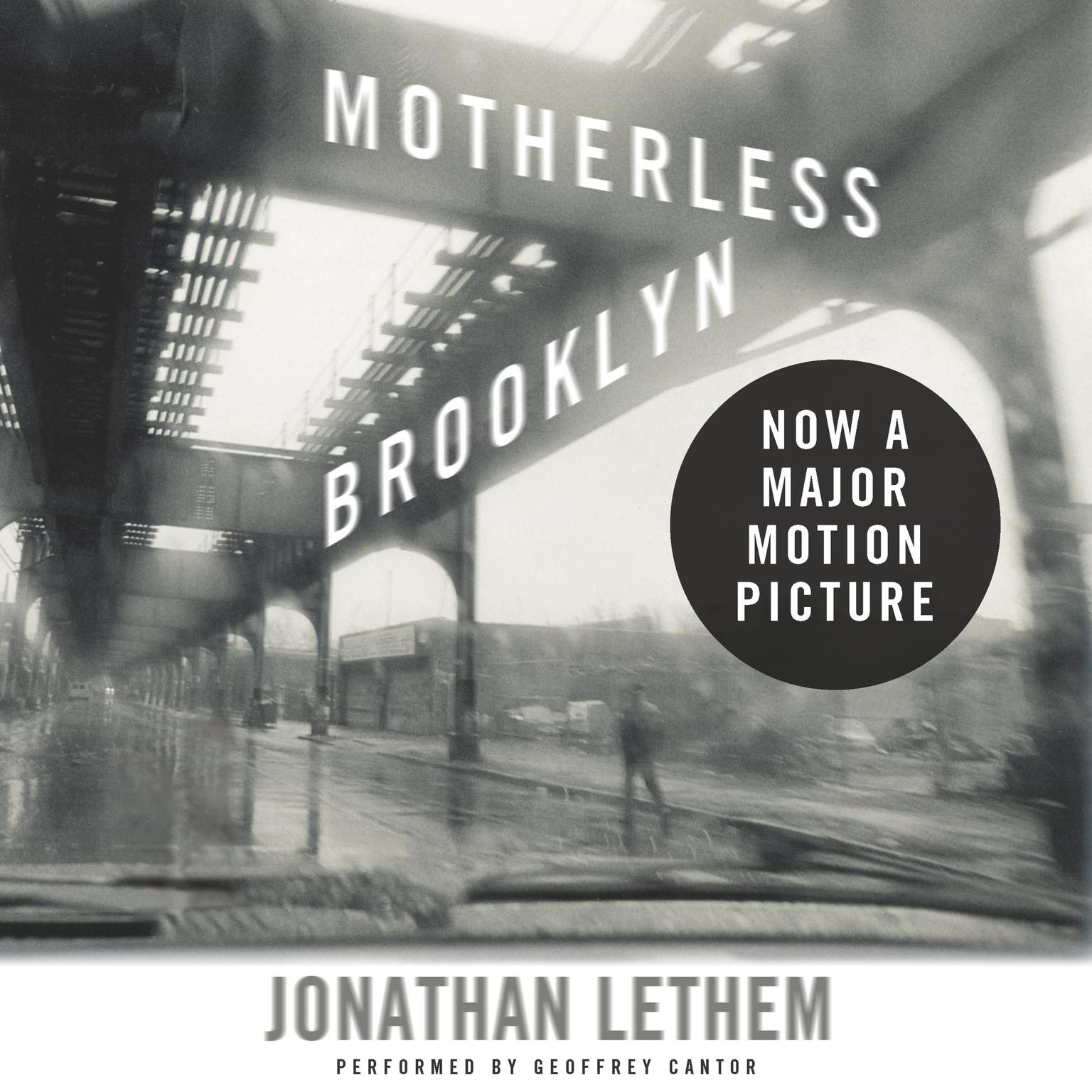 Printable Motherless Brooklyn Audiobook Cover Art
