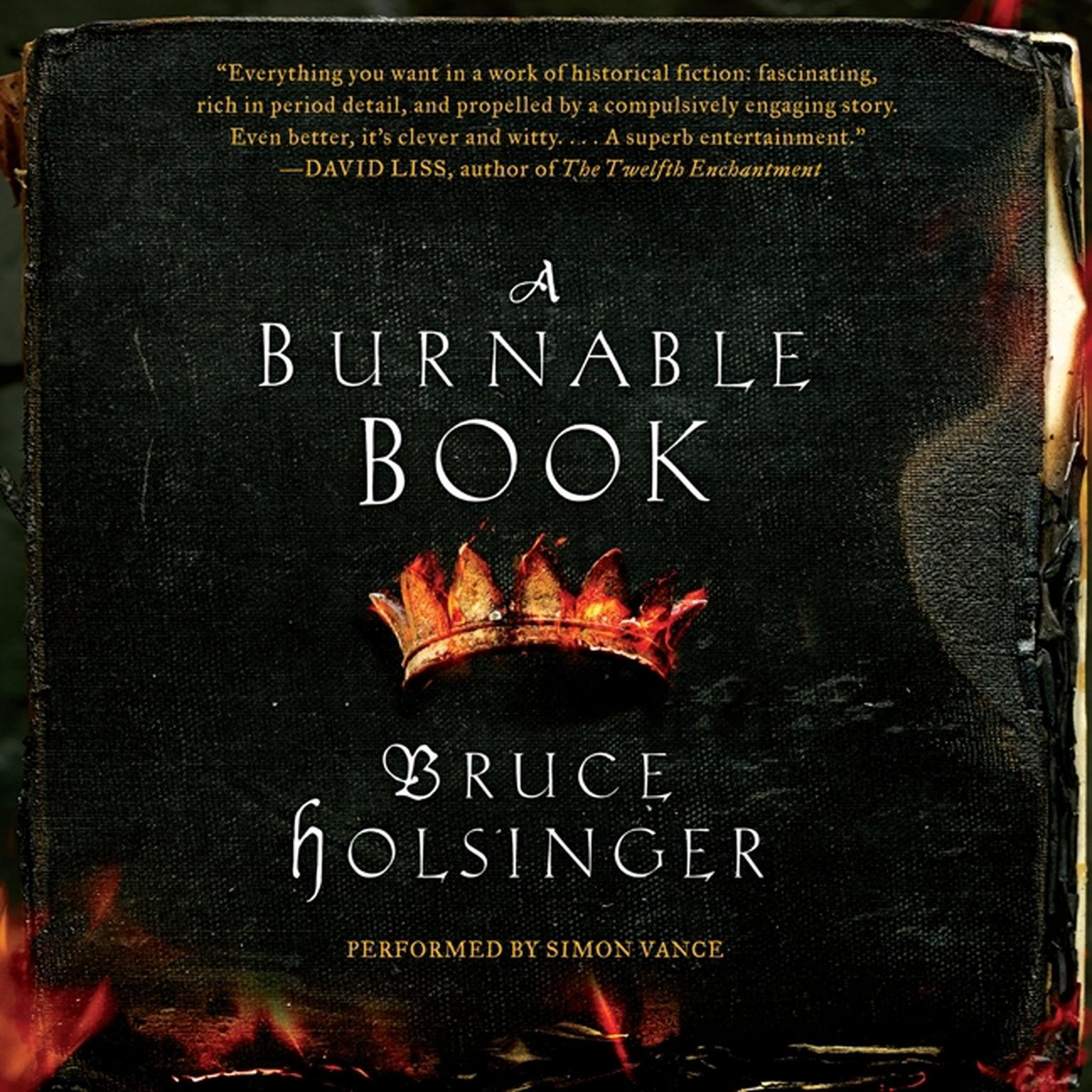 Printable A Burnable Book: A Novel Audiobook Cover Art