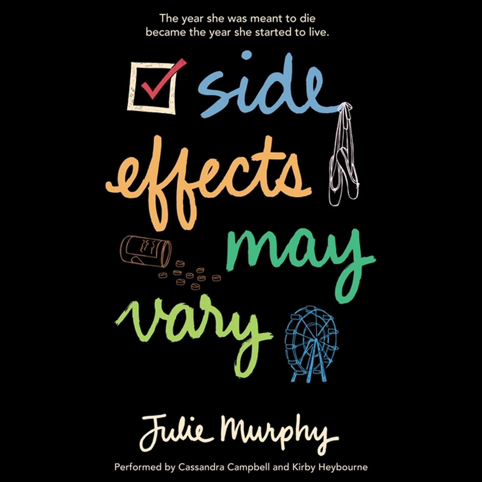 Printable Side Effects May Vary Audiobook Cover Art
