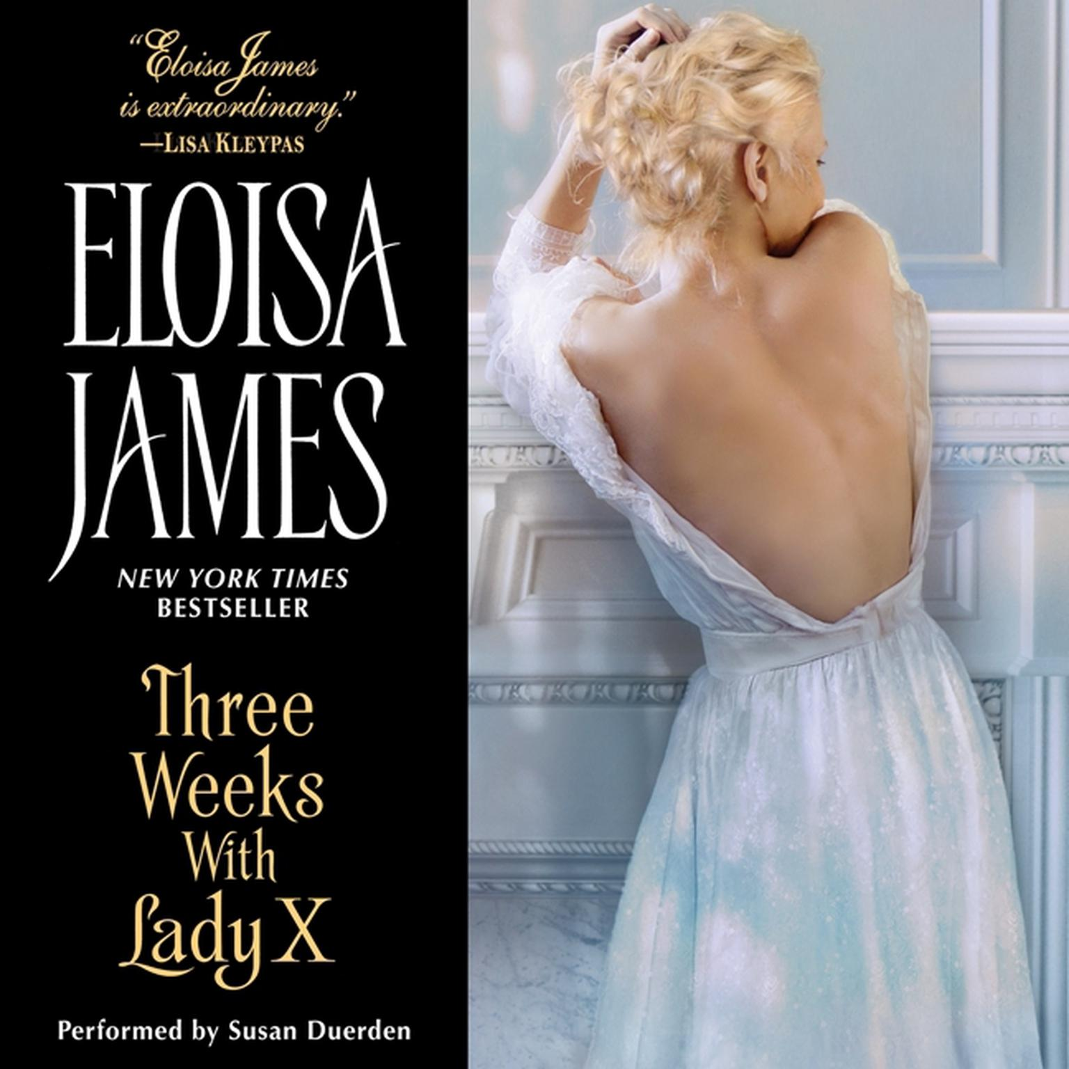 Printable Three Weeks with Lady X Audiobook Cover Art