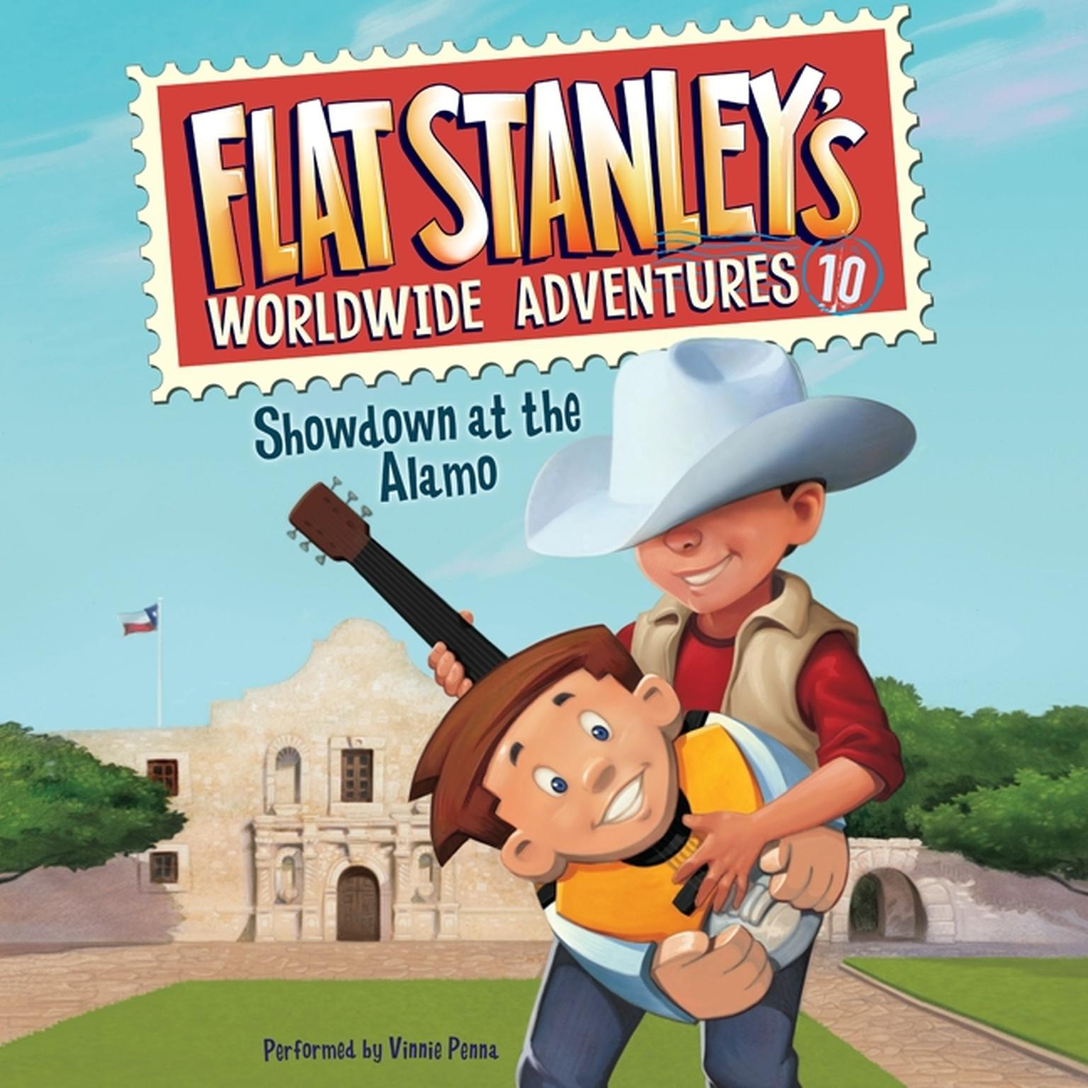 Printable Flat Stanley's Worldwide Adventures #10: Showdown at the Alamo Audiobook Cover Art