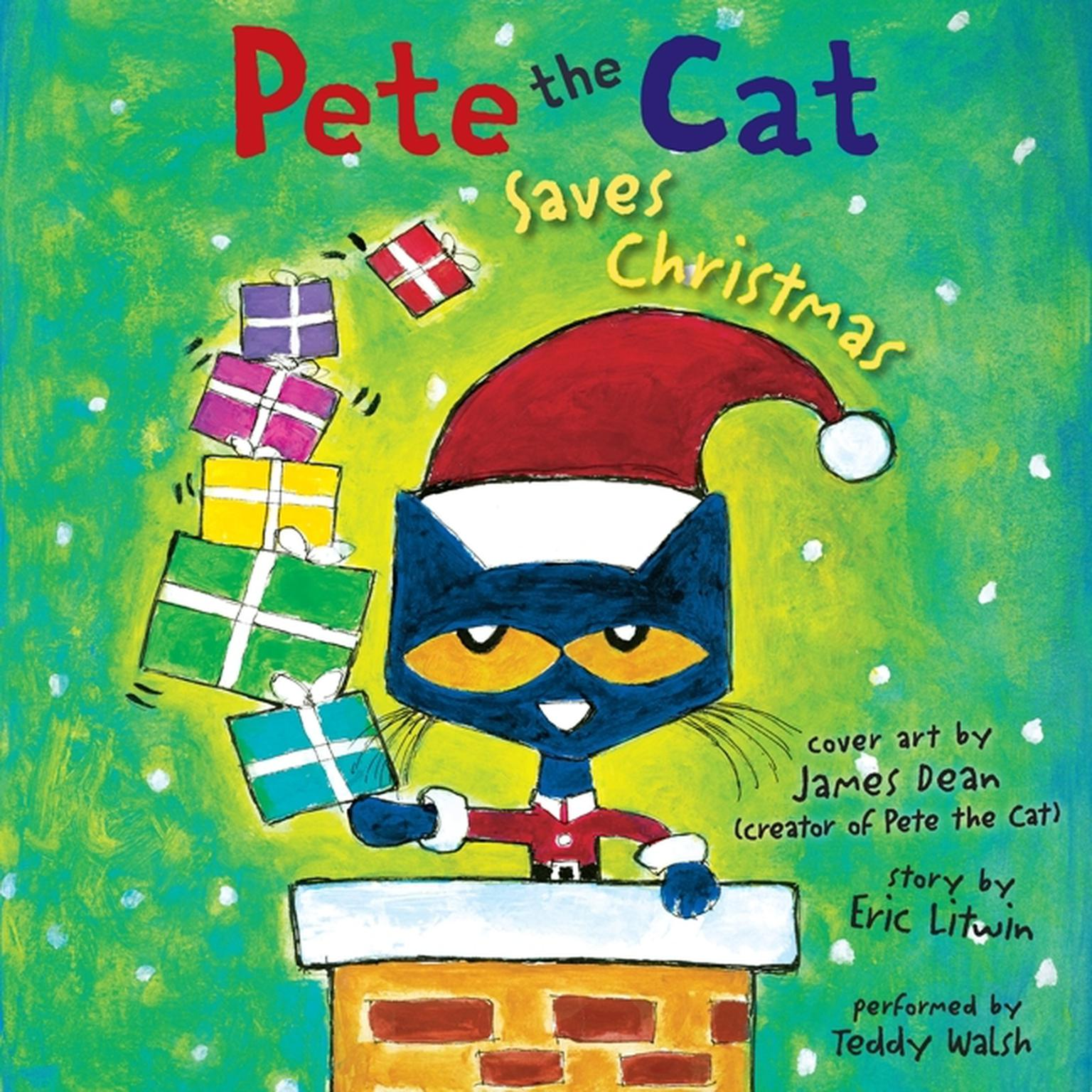 Printable Pete the Cat Saves Christmas Audiobook Cover Art