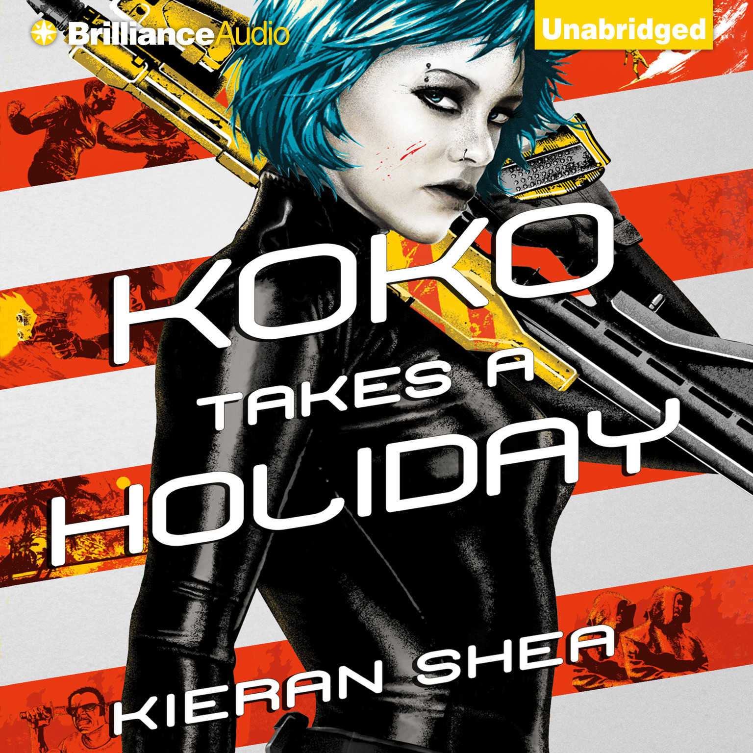 Printable Koko Takes a Holiday Audiobook Cover Art