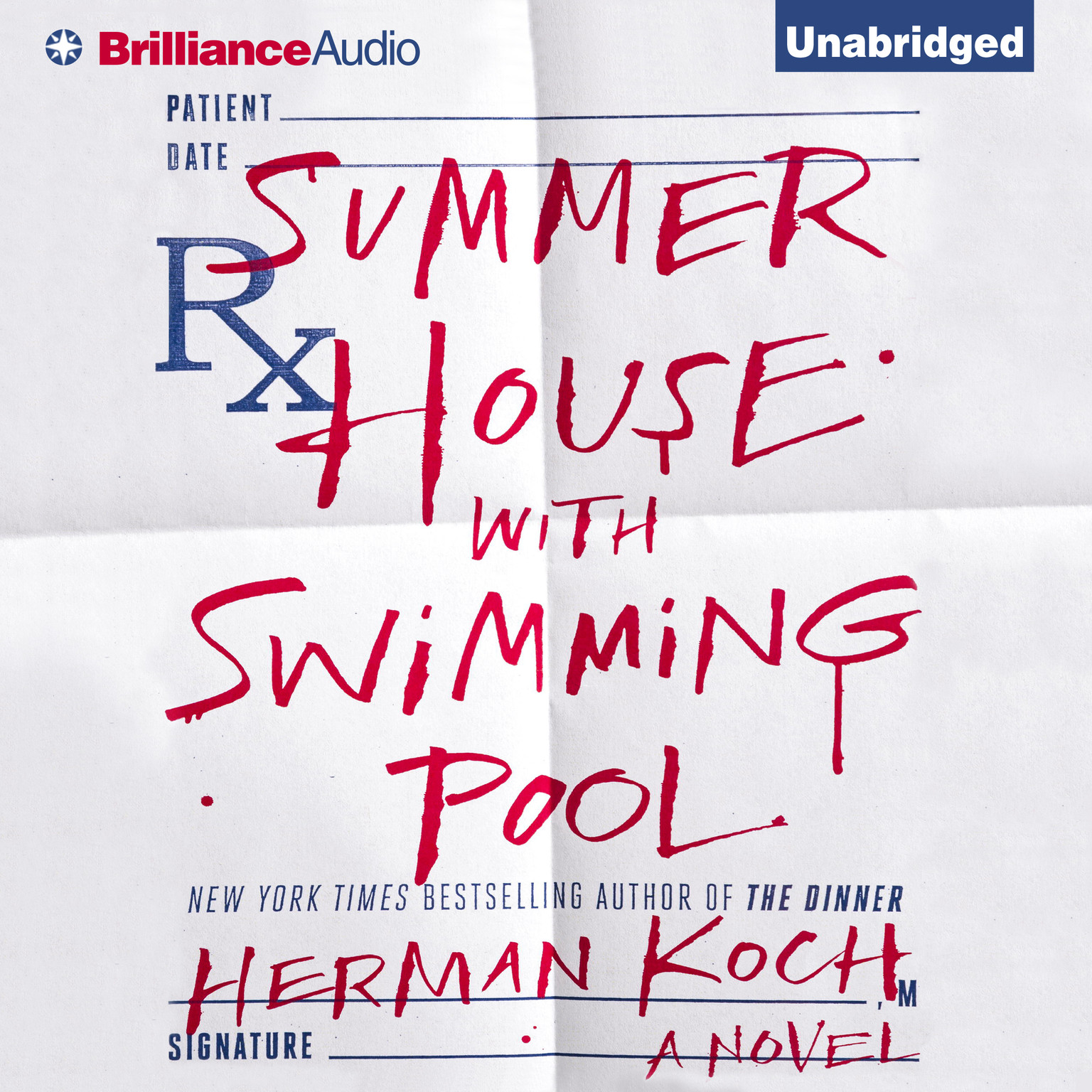 Printable Summer House with Swimming Pool: A Novel Audiobook Cover Art
