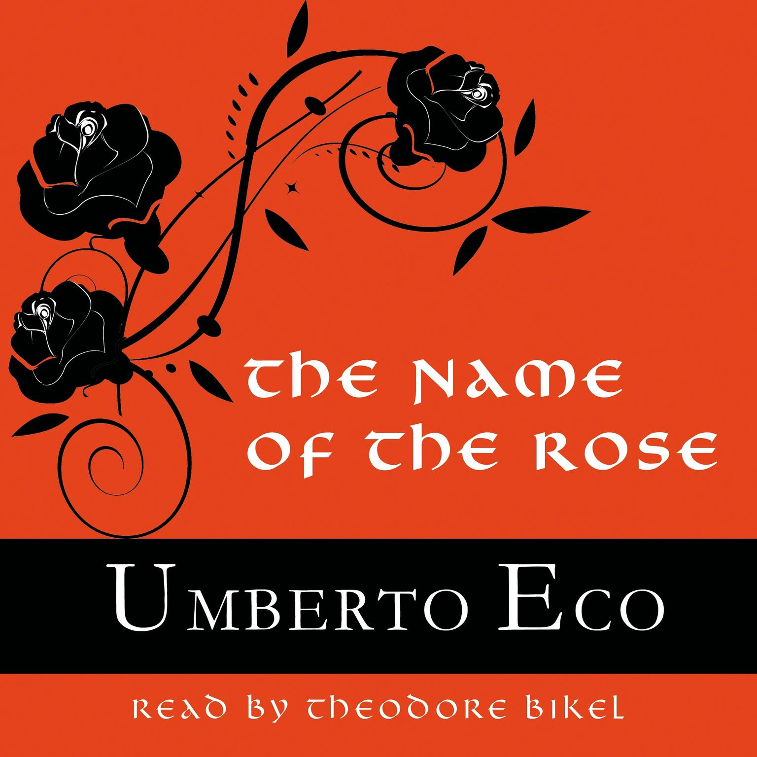 Printable The Name of the Rose Audiobook Cover Art
