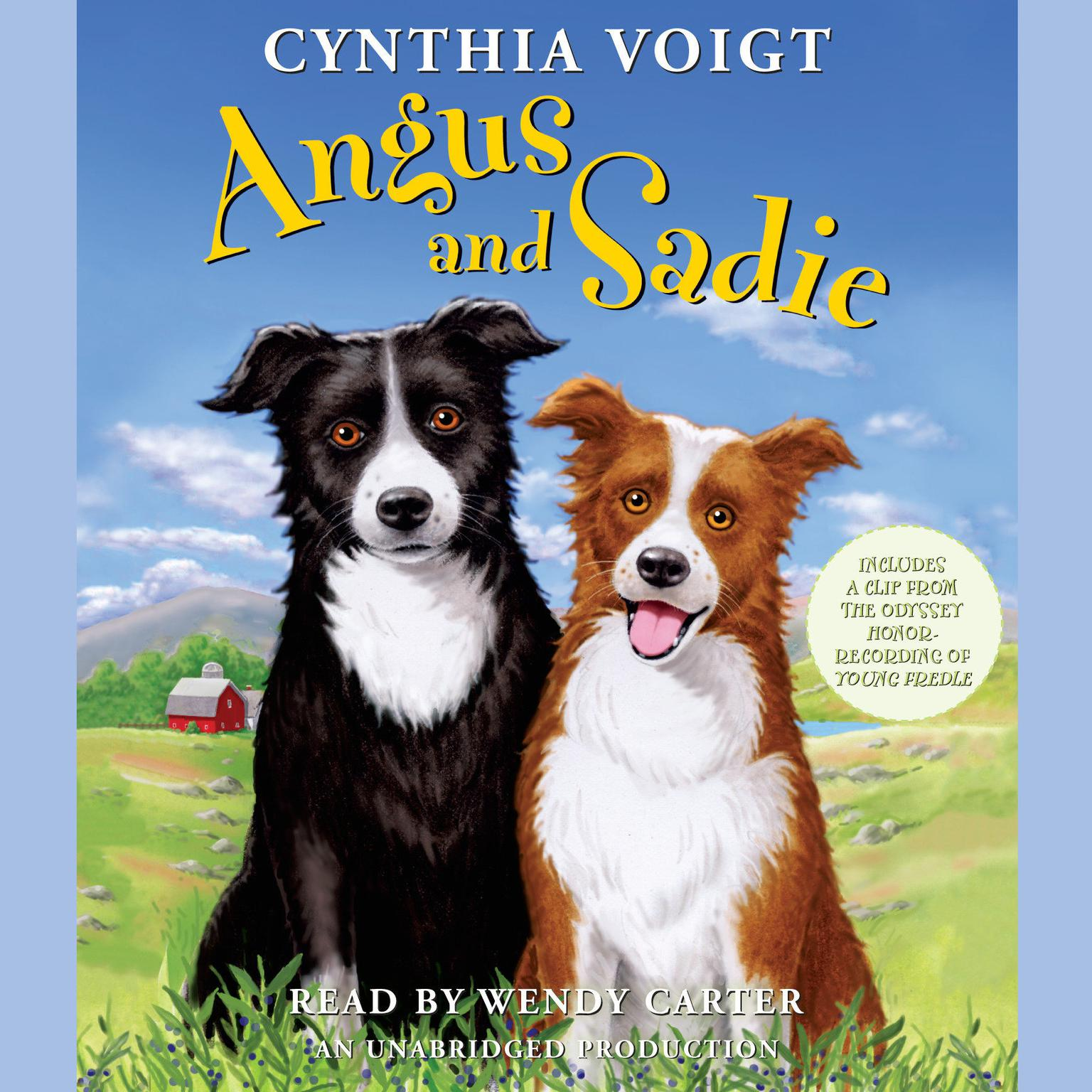 Printable Angus and Sadie Audiobook Cover Art