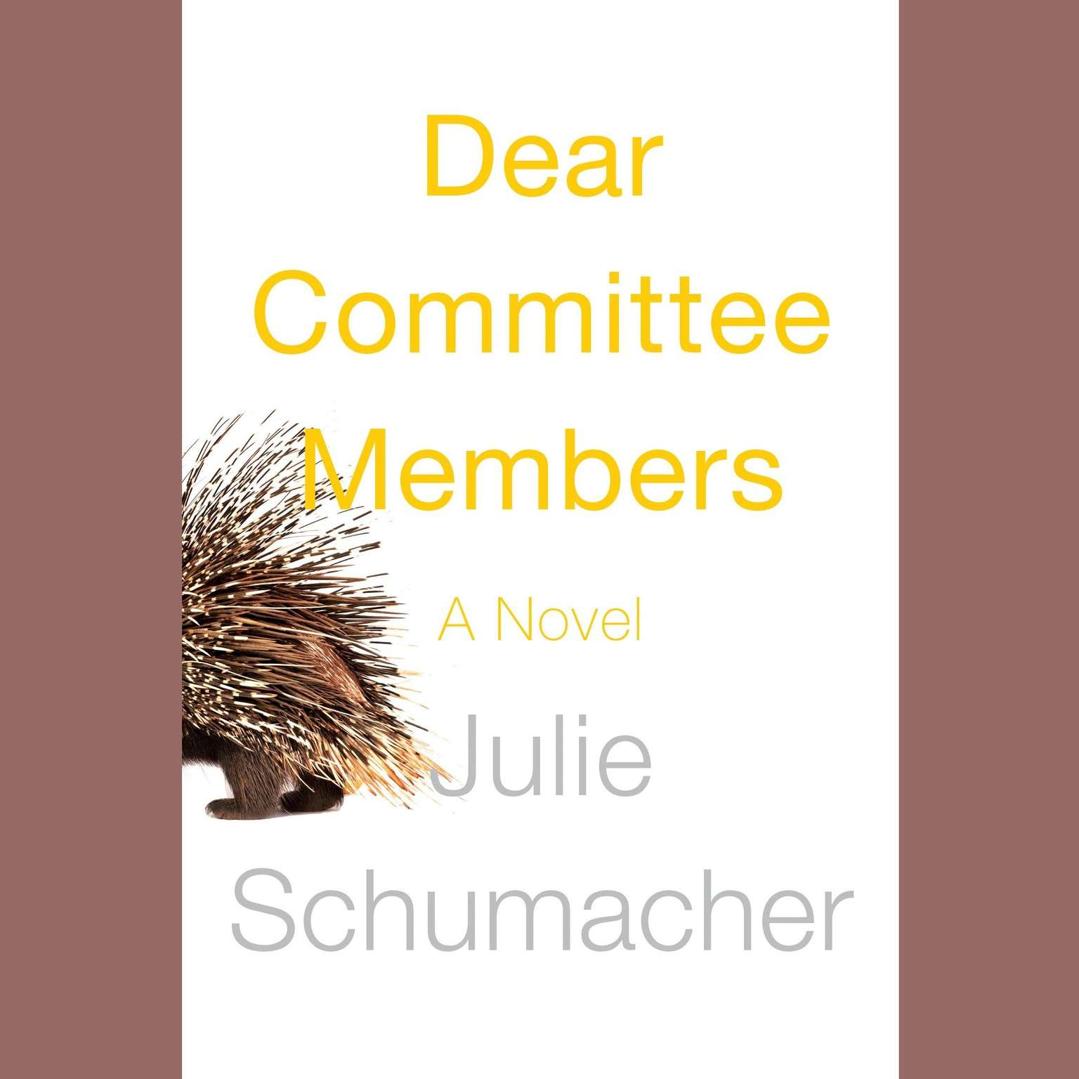 Printable Dear Committee Members: A novel Audiobook Cover Art