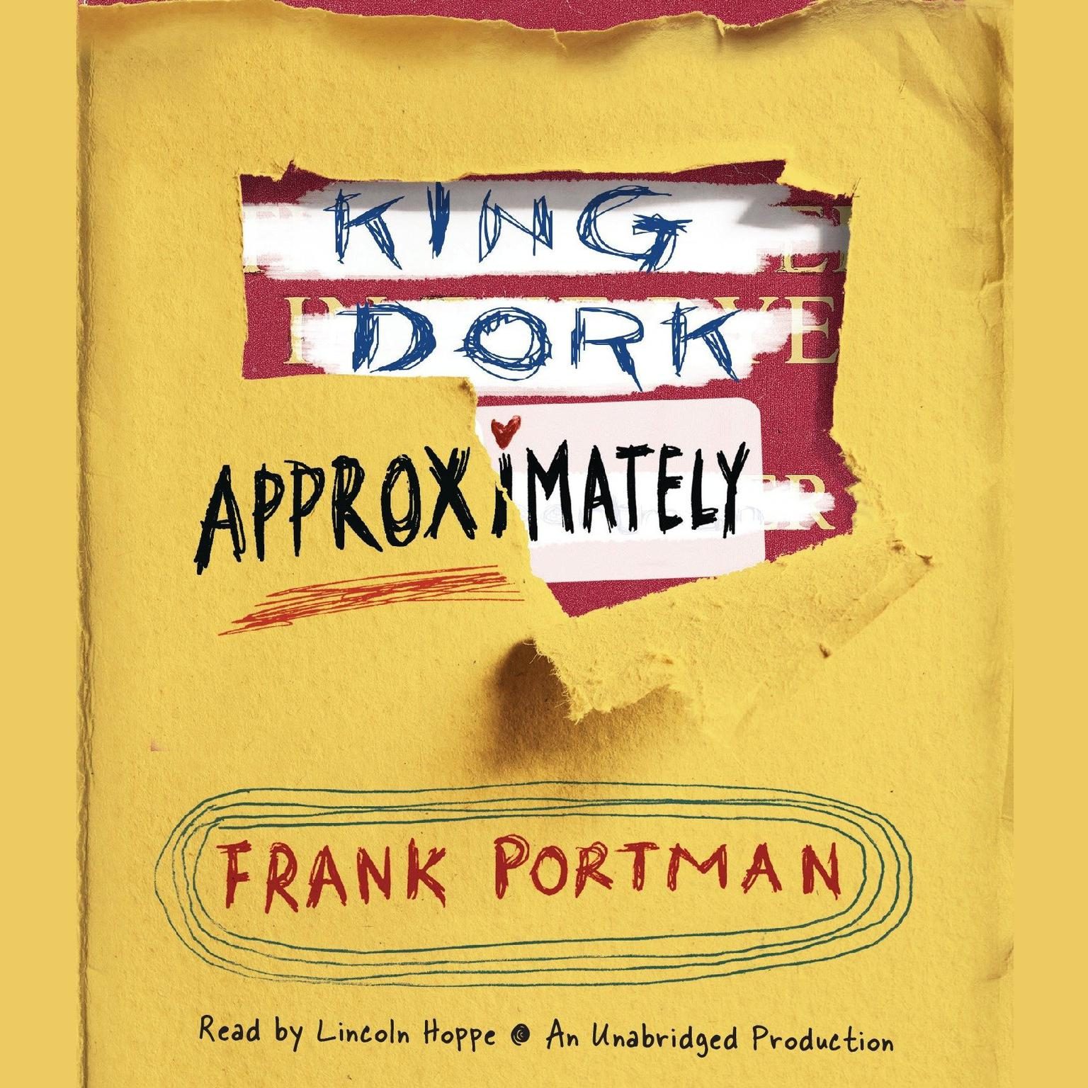 Printable King Dork Approximately Audiobook Cover Art