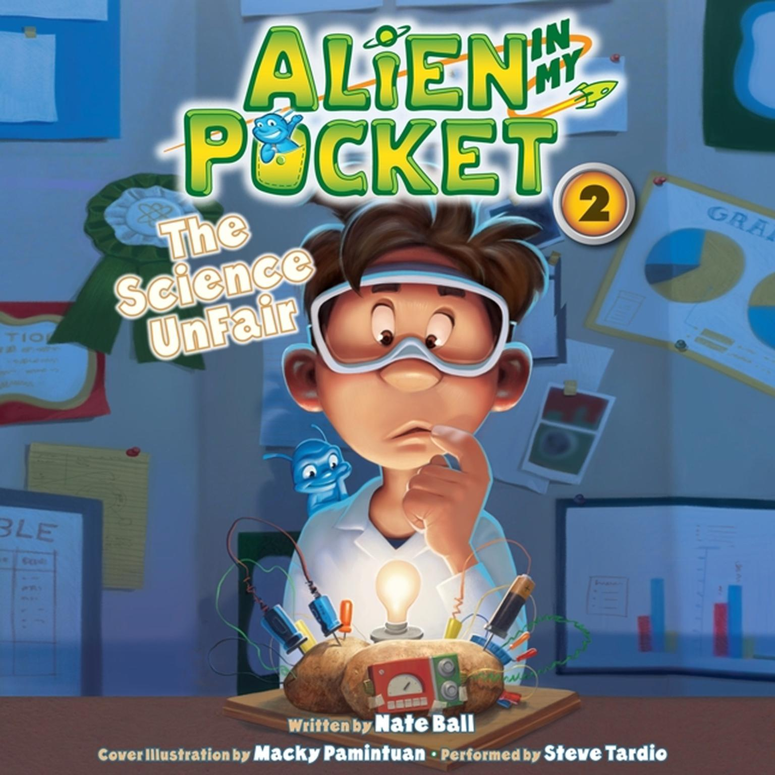 Printable Alien in My Pocket: The Science UnFair Audiobook Cover Art