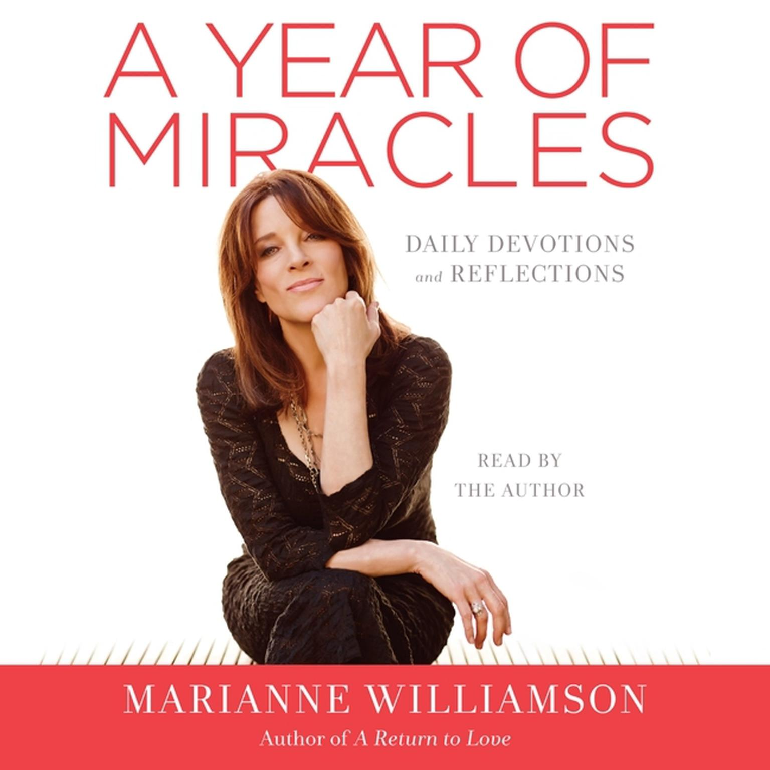 Printable A Year of Miracles: Daily Devotions and Reflections Audiobook Cover Art