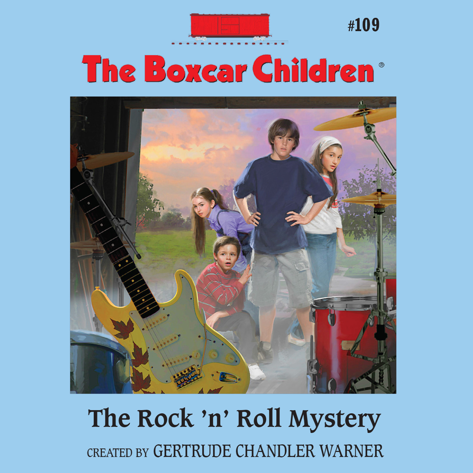 Printable The Rock 'N' Roll Mystery Audiobook Cover Art