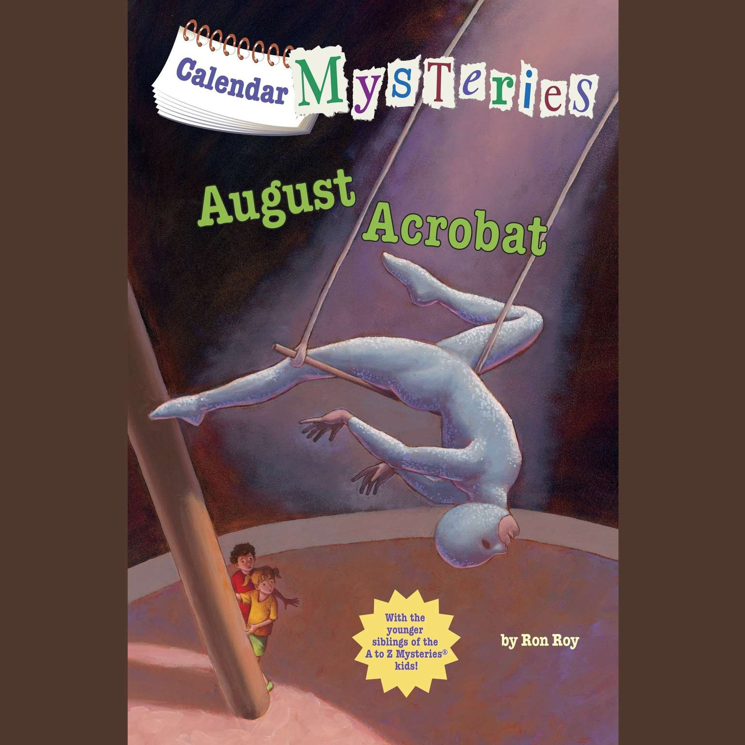Printable Calendar Mysteries #8: August Acrobat Audiobook Cover Art