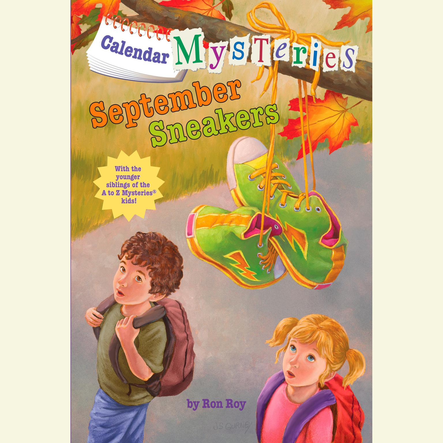Printable Calendar Mysteries #9: September Sneakers Audiobook Cover Art