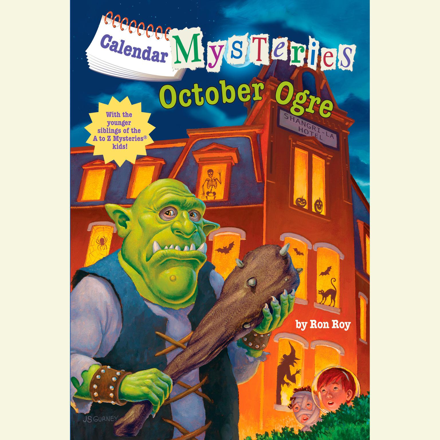 Printable Calendar Mysteries #10: October Ogre Audiobook Cover Art