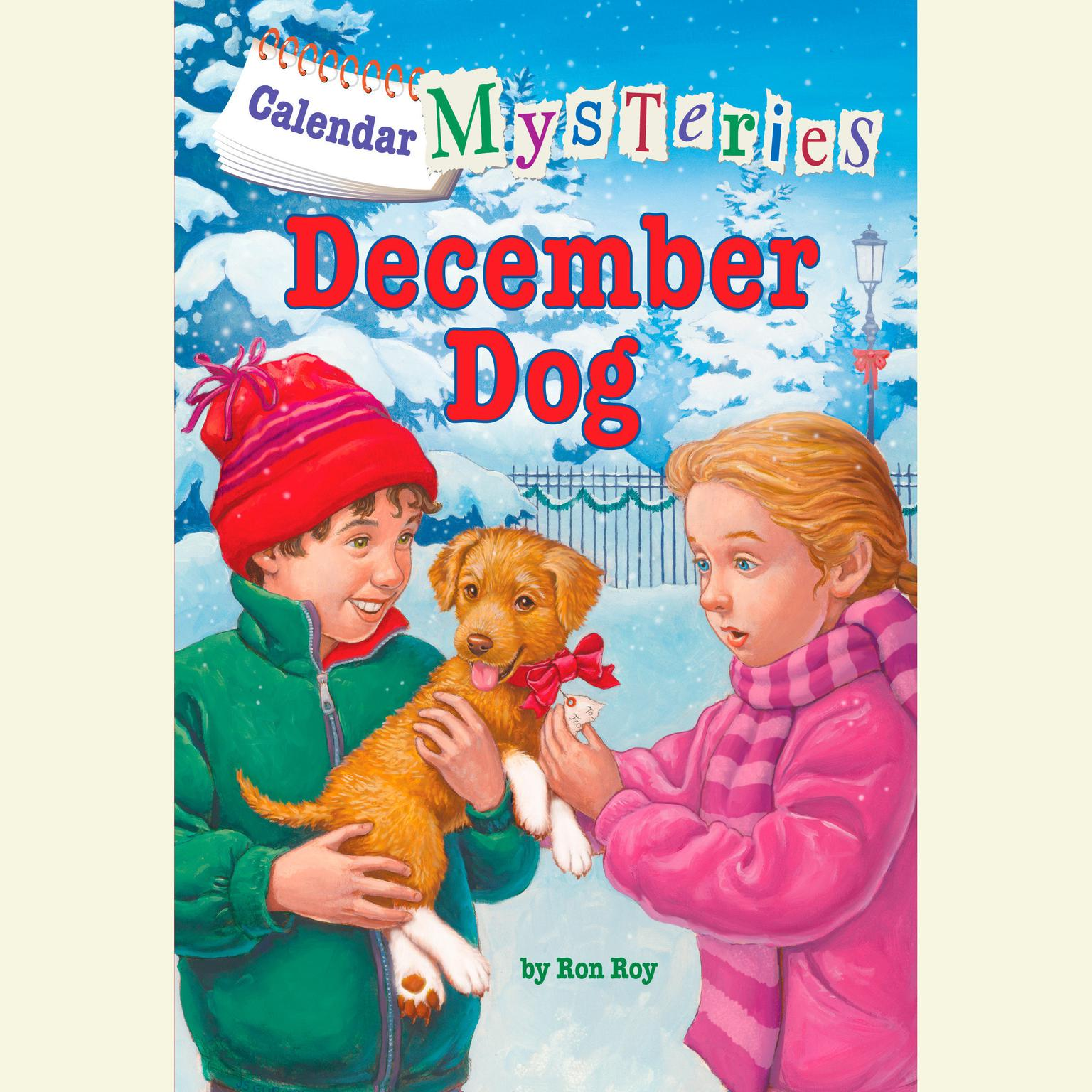 Printable Calendar Mysteries #12: December Dog Audiobook Cover Art