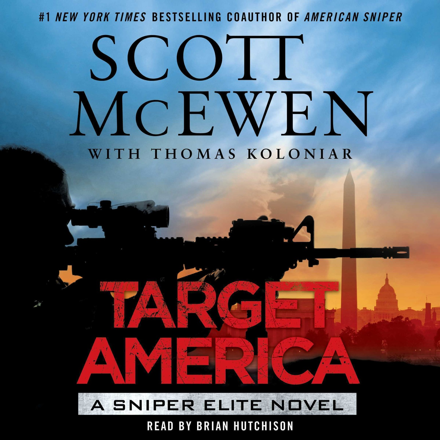 Printable Target America: A Sniper Elite Novel Audiobook Cover Art