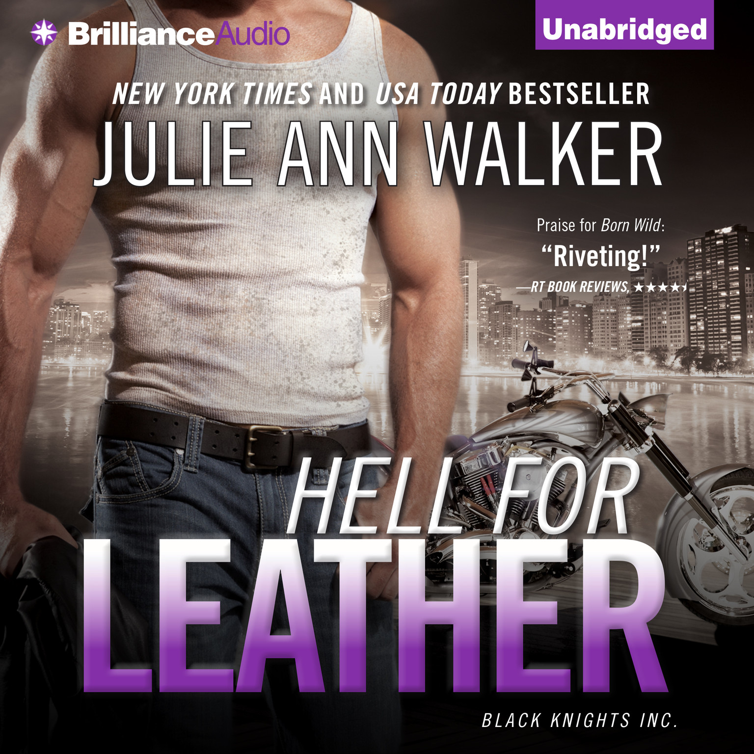 Printable Hell for Leather Audiobook Cover Art