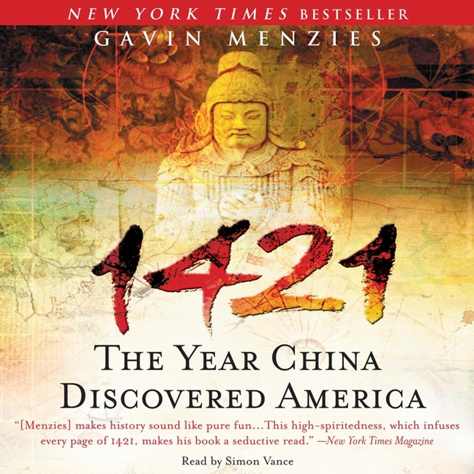 Printable 1421: The Year China Discovered America Audiobook Cover Art
