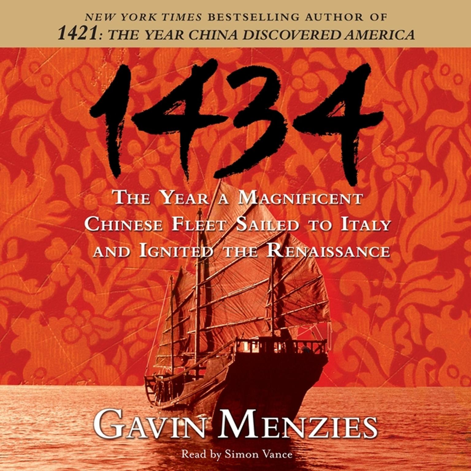 Printable 1434: The Year a Magnificent Chinese Fleet Sailed to Italy and Ignited the Renaissance Audiobook Cover Art