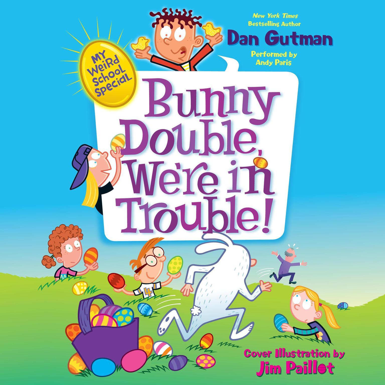 Printable Bunny Double, We're in Trouble! Audiobook Cover Art