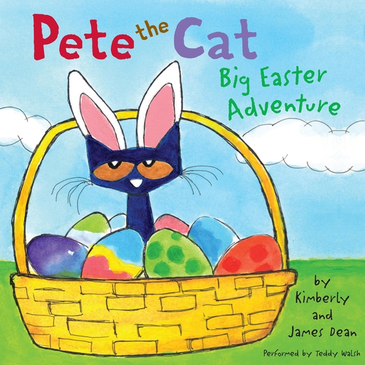 Printable Pete the Cat: Big Easter Adventure Audiobook Cover Art