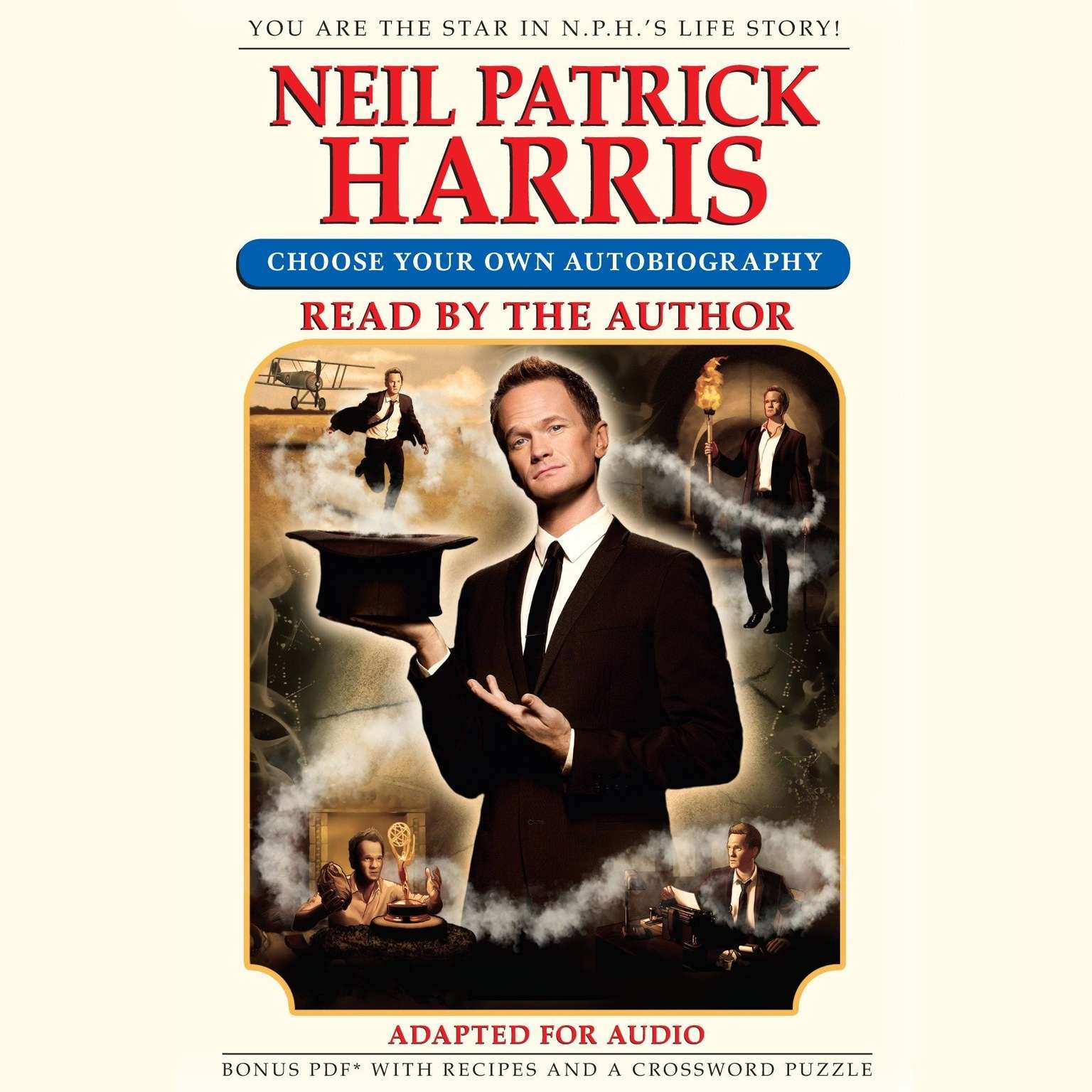 Printable Neil Patrick Harris: Choose Your Own Autobiography Audiobook Cover Art