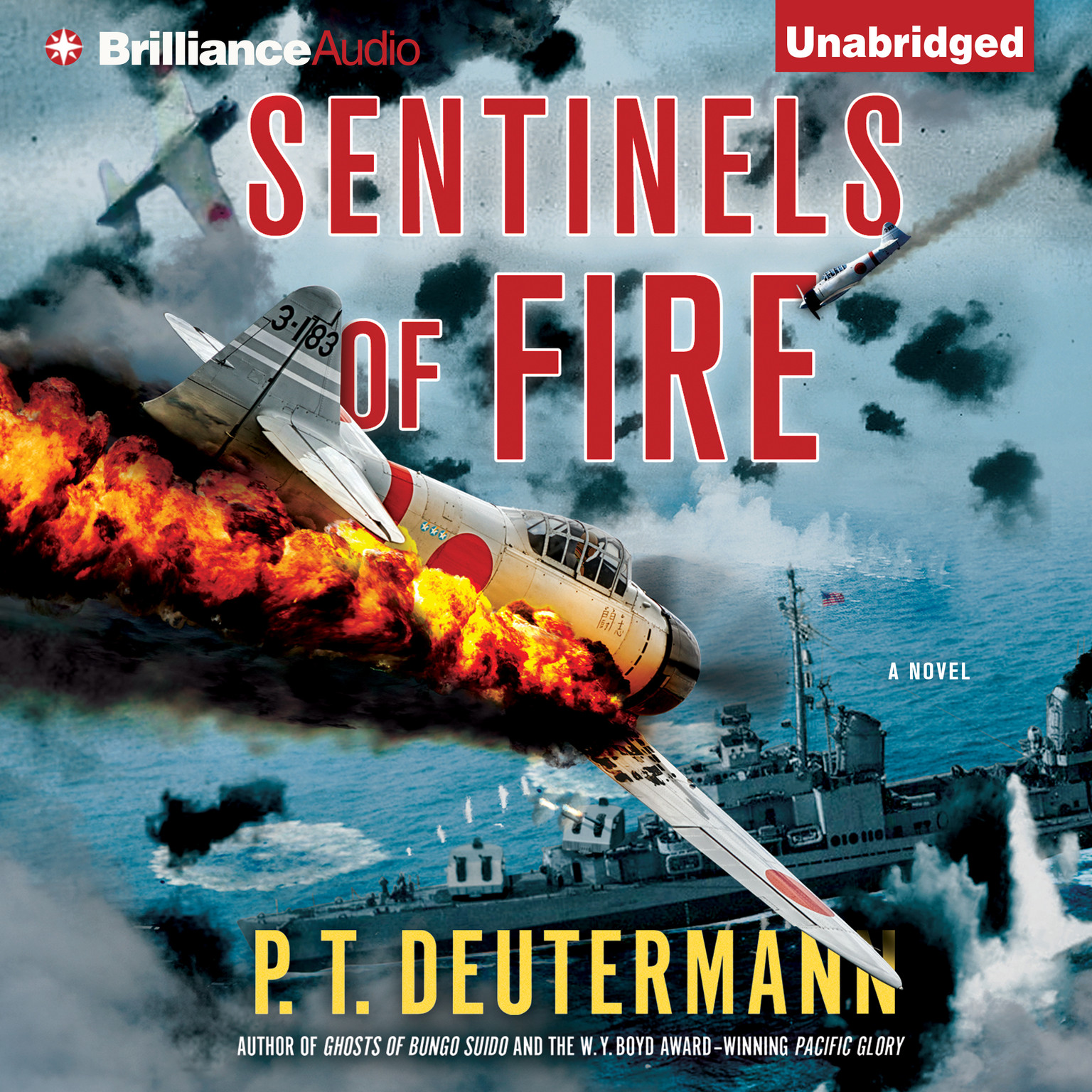 Printable Sentinels of Fire Audiobook Cover Art