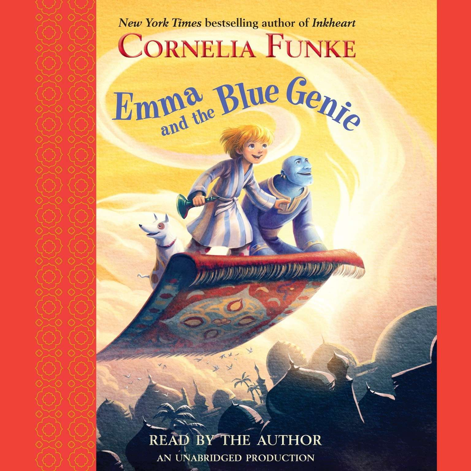 Printable Emma and the Blue Genie Audiobook Cover Art