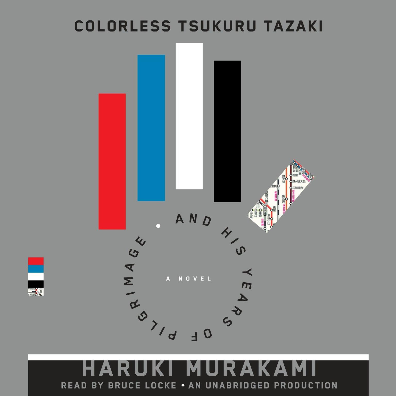 Printable Colorless Tsukuru Tazaki and His Years of Pilgrimage: A novel Audiobook Cover Art