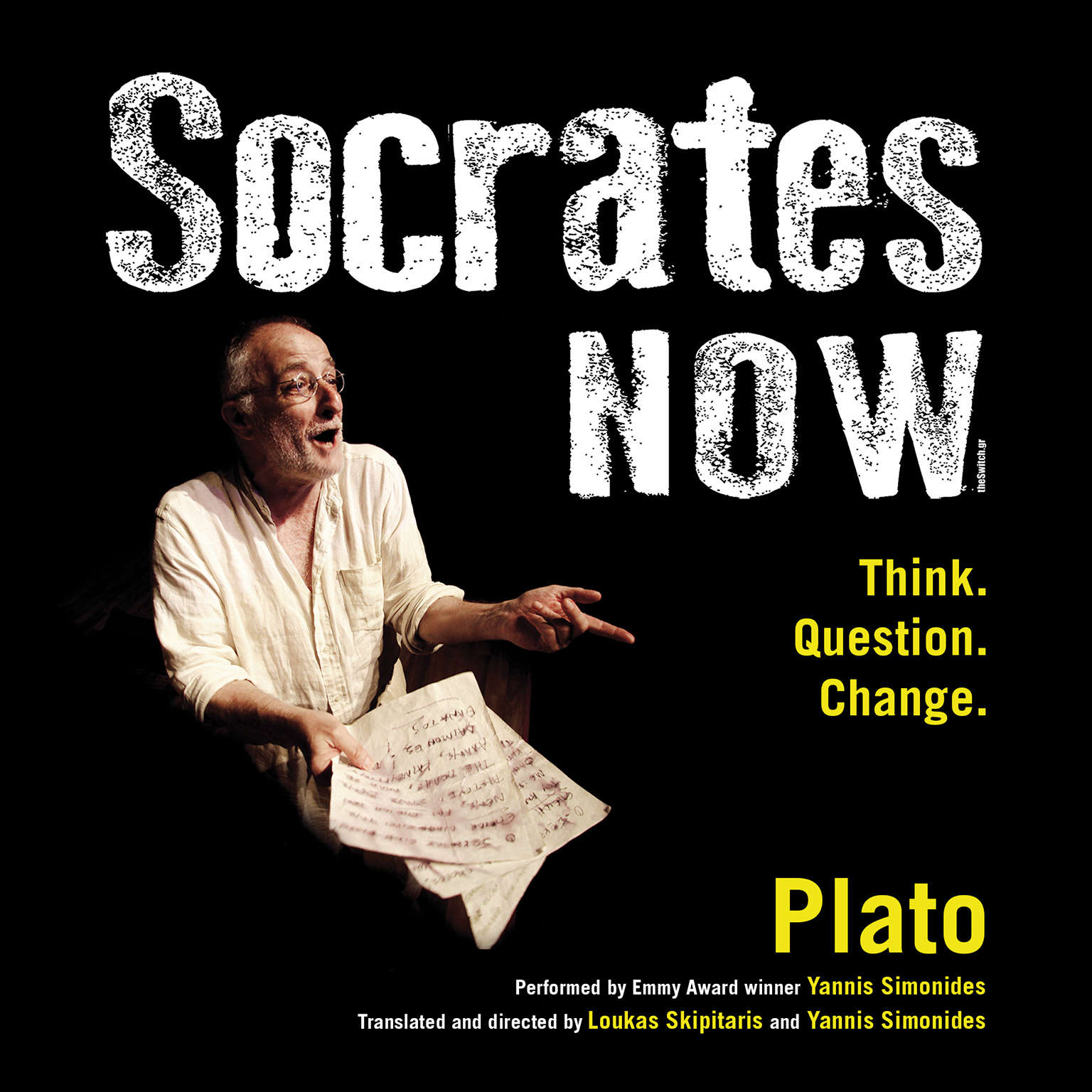 Printable Socrates Now: Think. Question. Change. Audiobook Cover Art