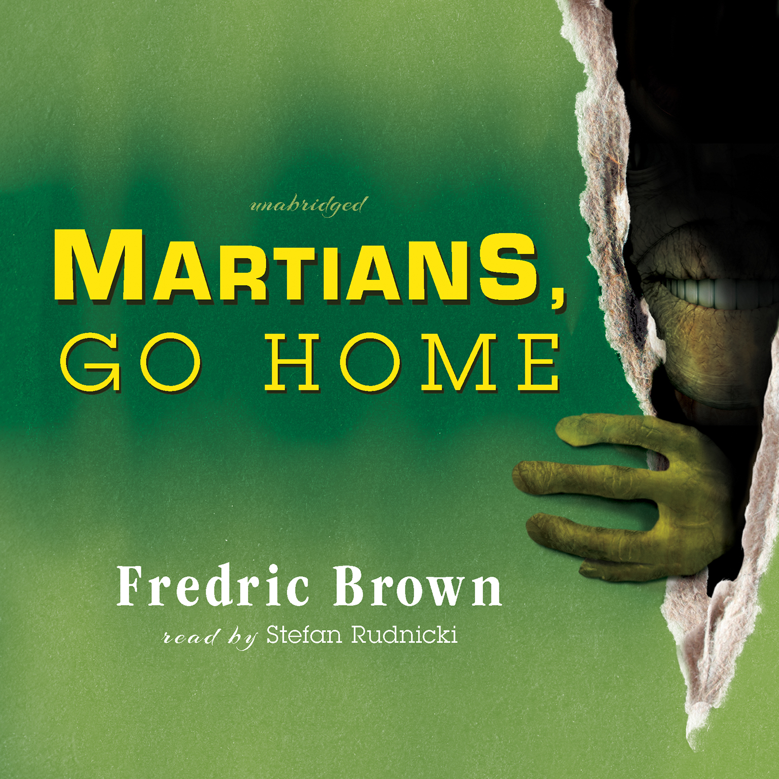 Printable Martians, Go Home Audiobook Cover Art